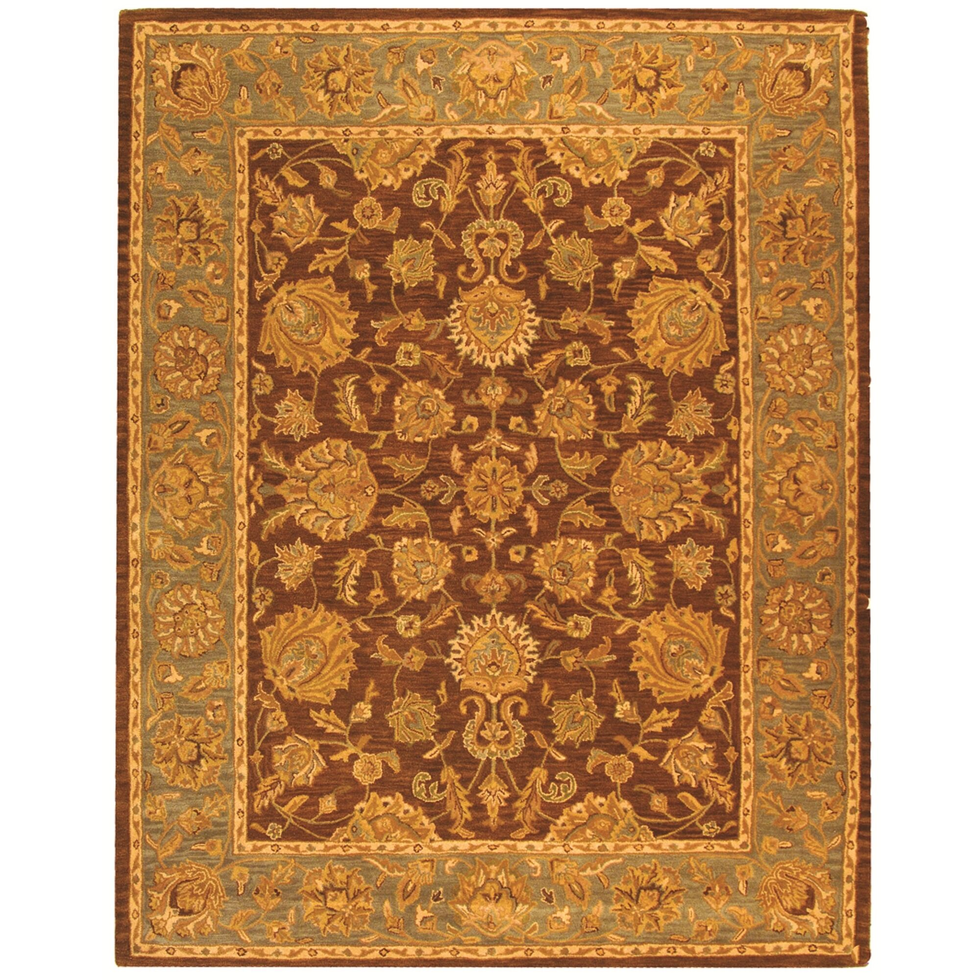Cranmore Gold & Brown Area Rug Rug Size: Rectangle 6' x 9'