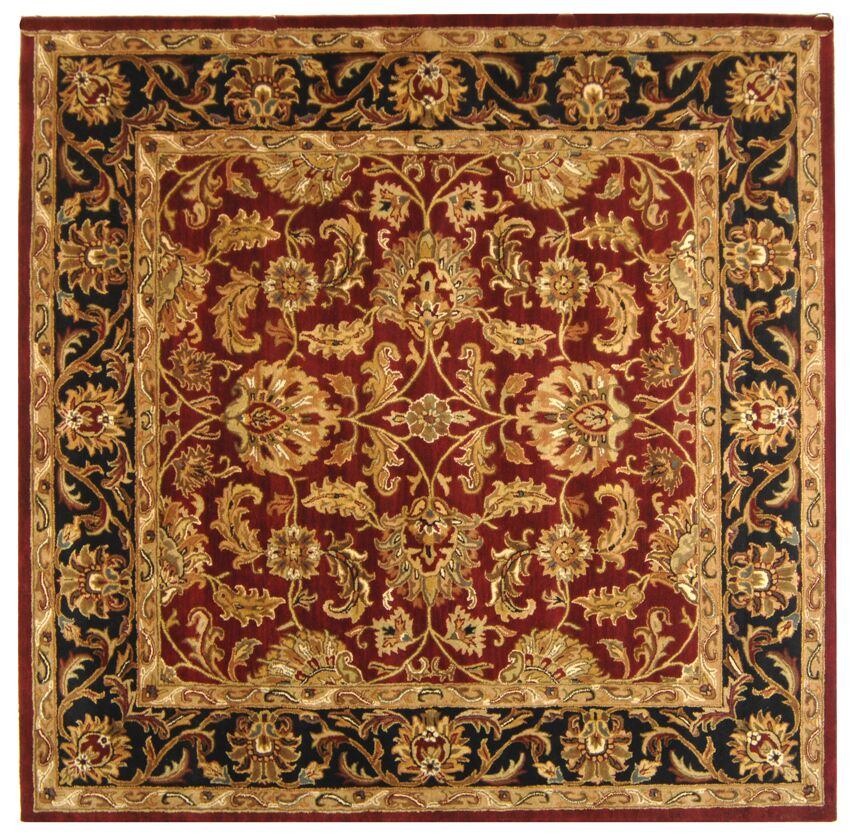 Cranmore Red Area Rug Rug Size: Square 10'