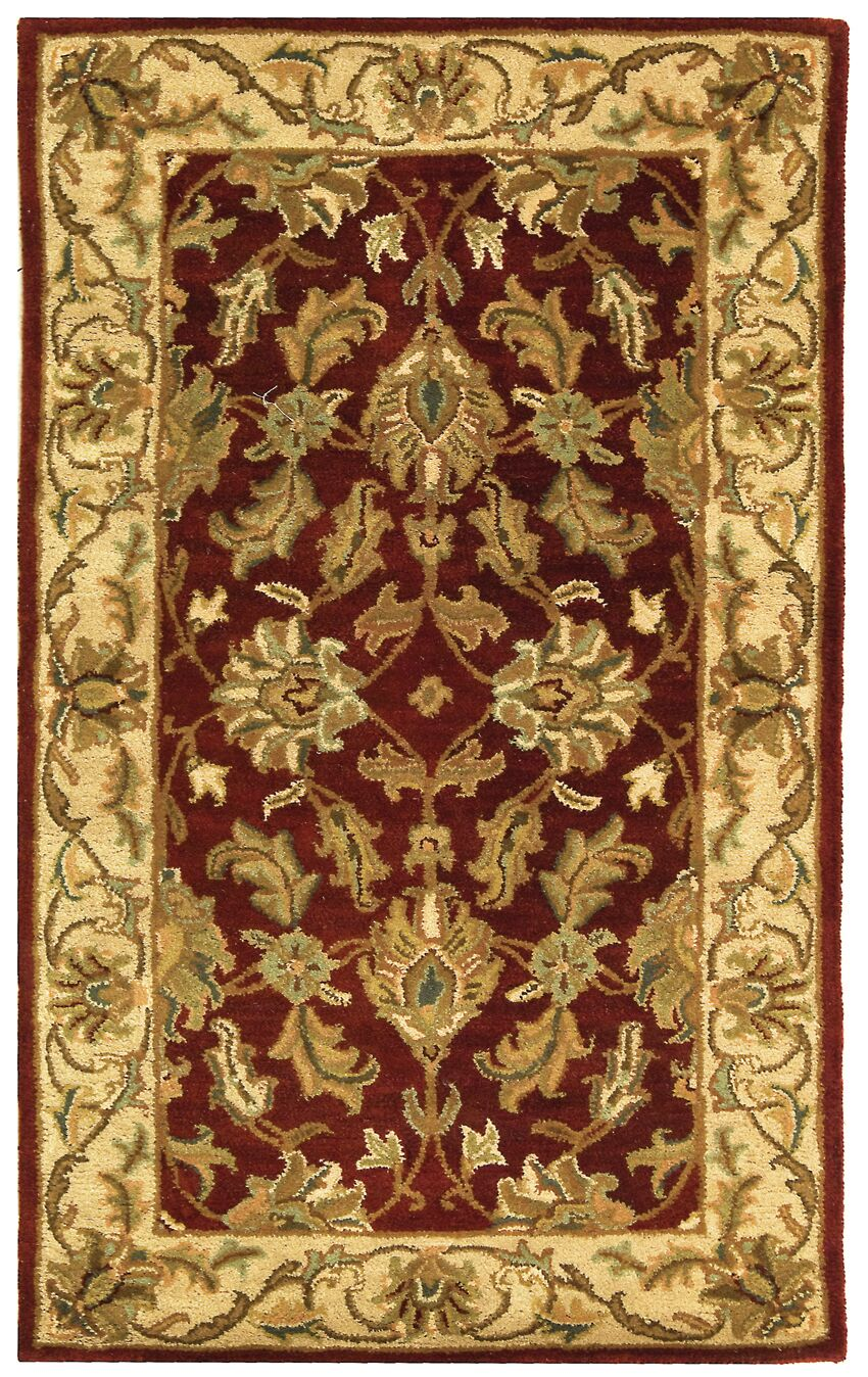 Cranmore Red/Ivory Floral Area Rug Rug Size: Rectangle 5' x 8'