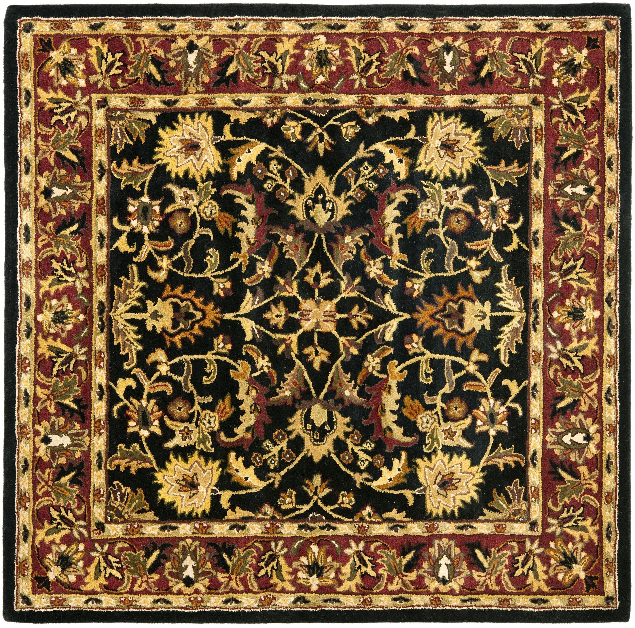 Cranmore Black Area Rug Rug Size: Square 10'