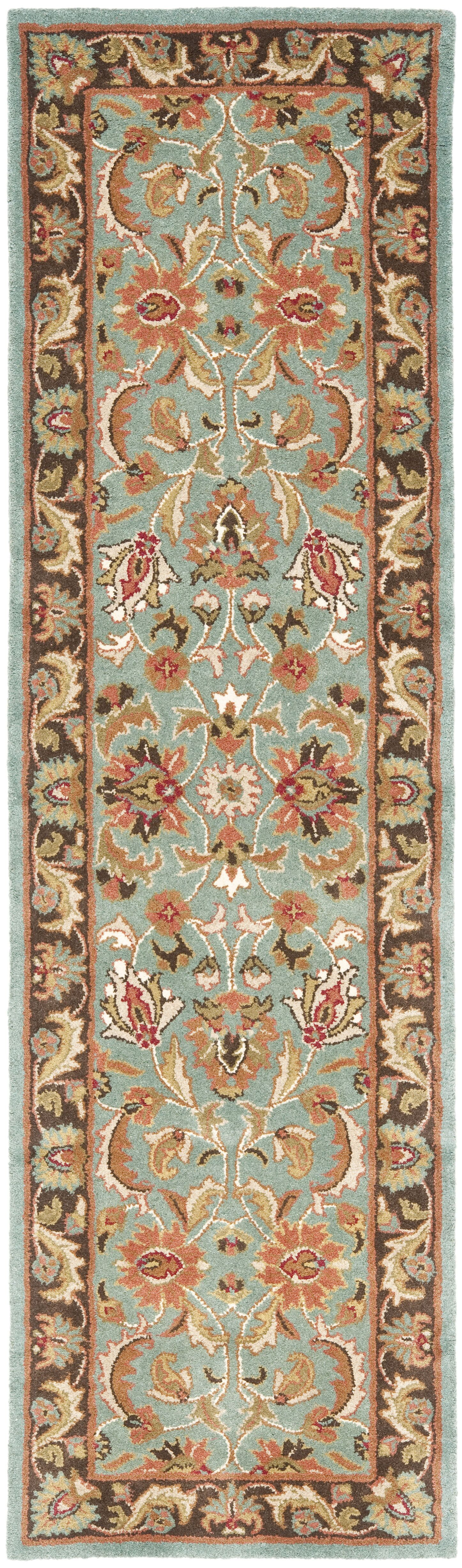 Cranmore Hand-Tufted Blue/Brown Area Rug Rug Size: Runner 2'3