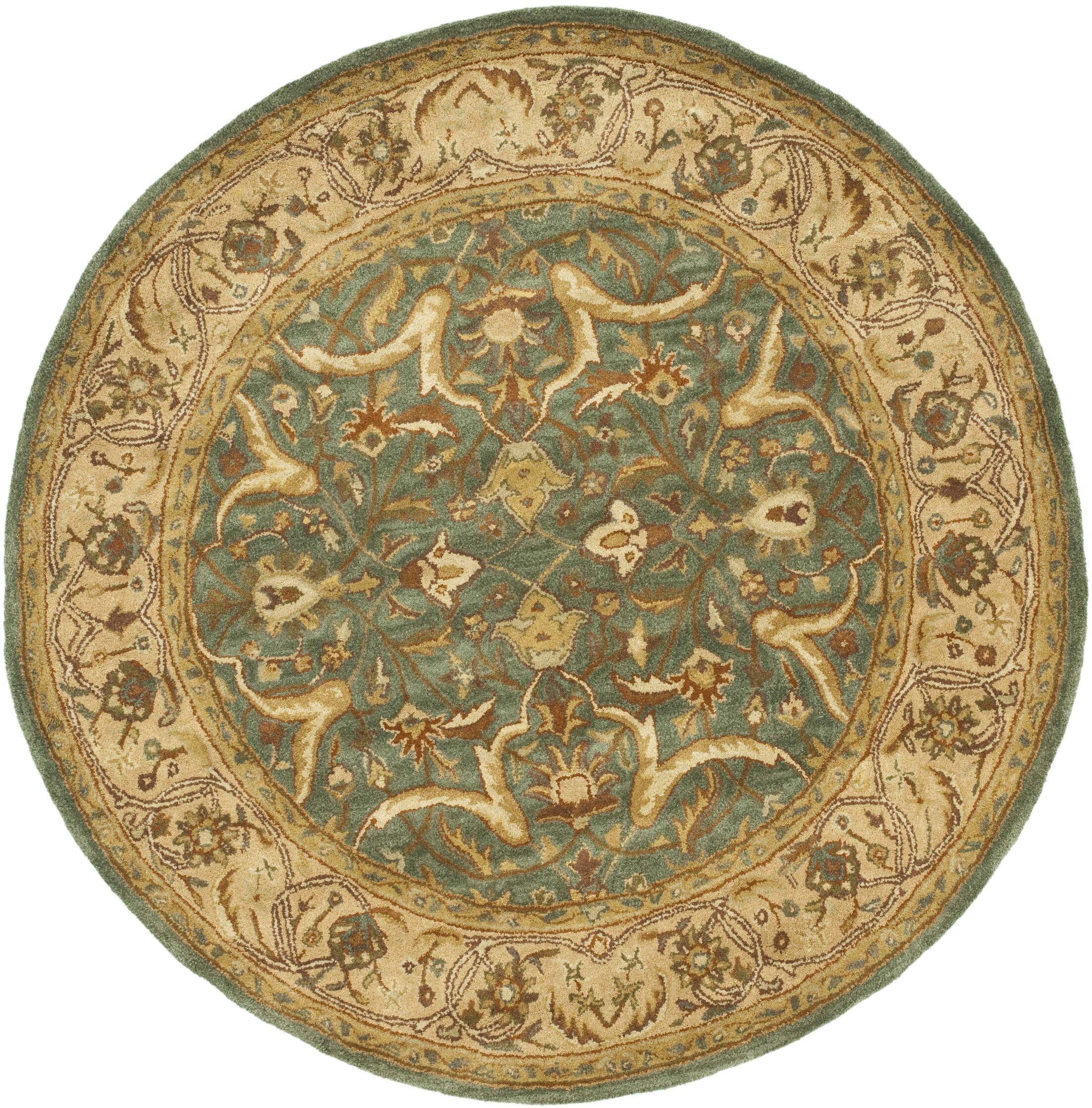 Cranmore Blue / Beige Oriental Rug Rug Size: Round 6'