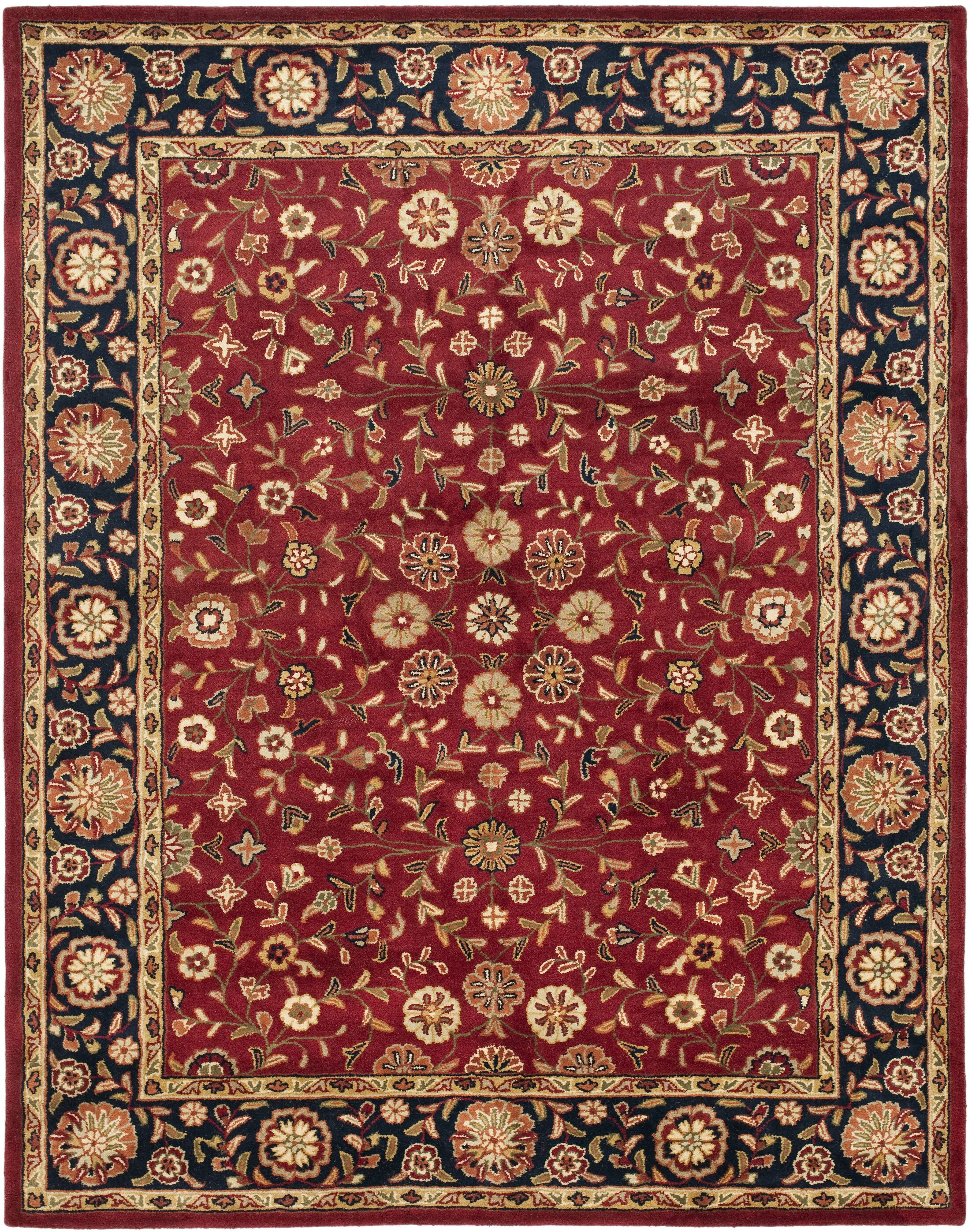 Cranmore Red/Black Floral Area Rug Rug Size: Rectangle 11' x 15'