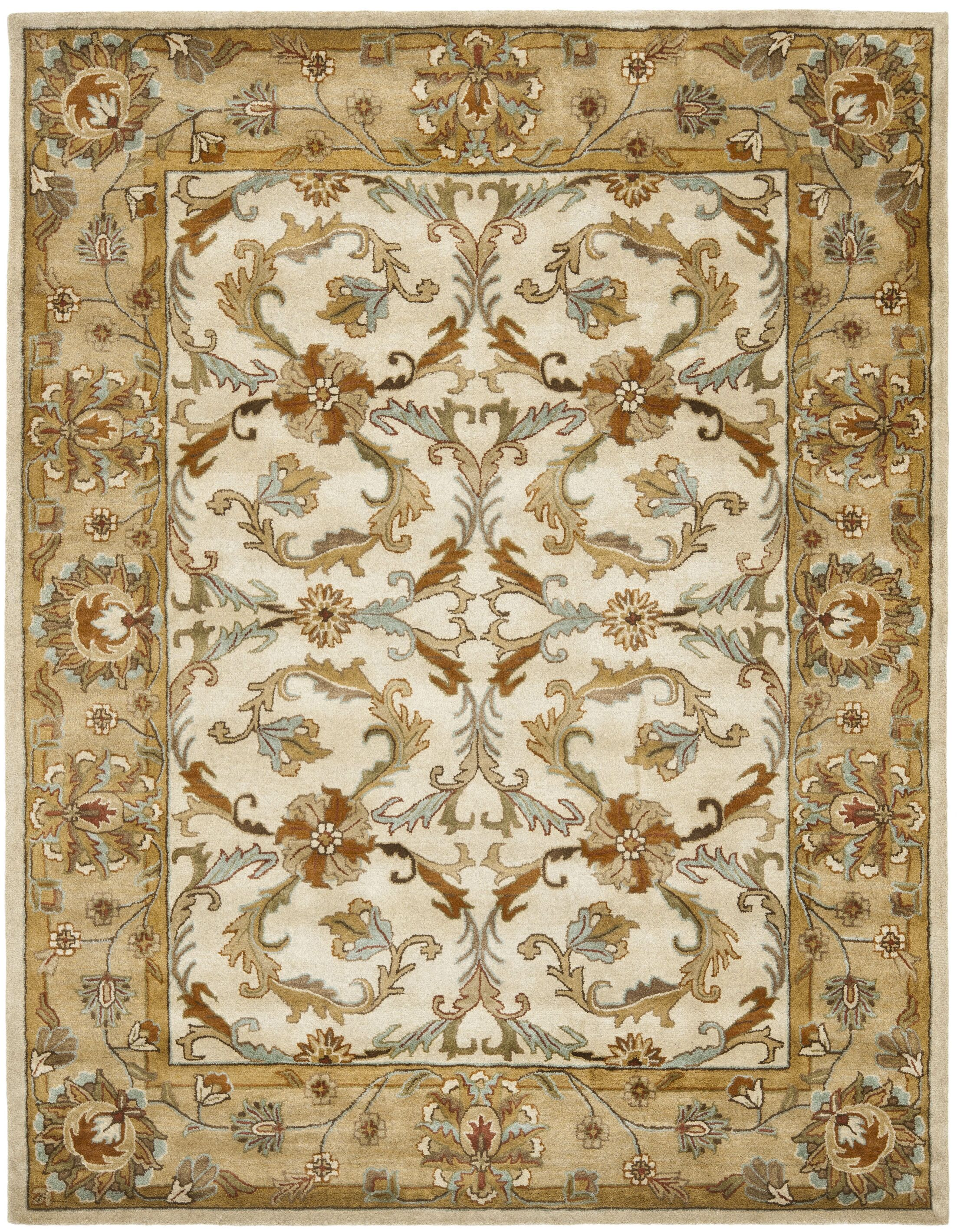 Cranmore Beige/Gold Area Rug Rug Size: Rectangle 9' x 12'