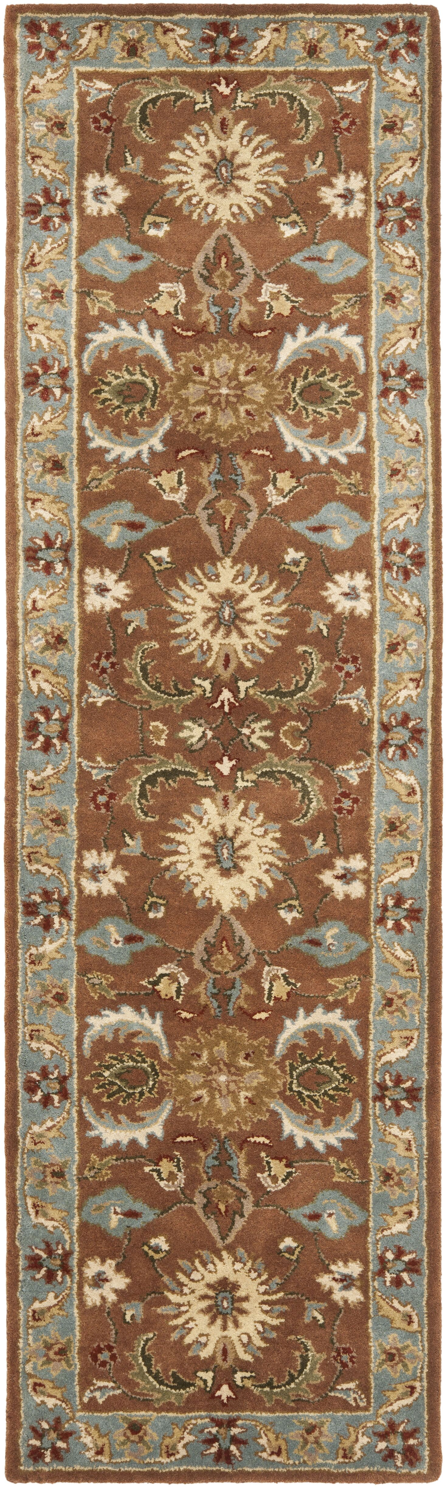 Cranmore Brown & Blue Area Rug Rug Size: Runner 2'3