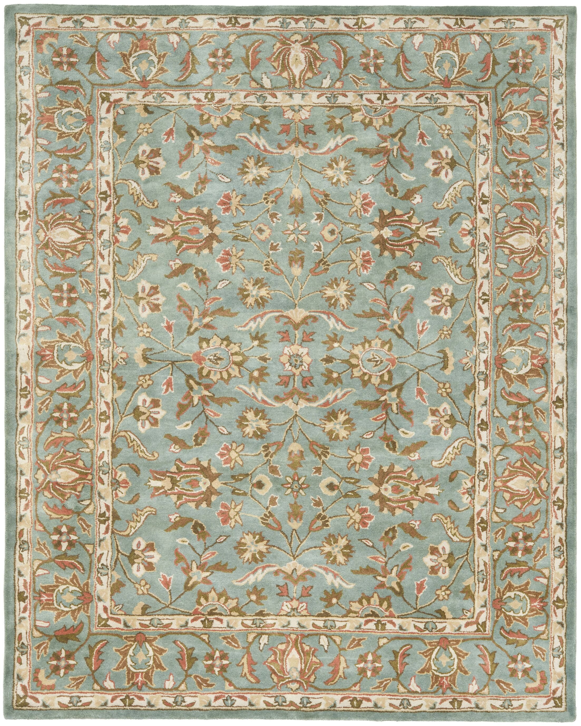 Cranmore Hand-Woven Wool Blue Area Rug Rug Size: Rectangle 11' x 17'