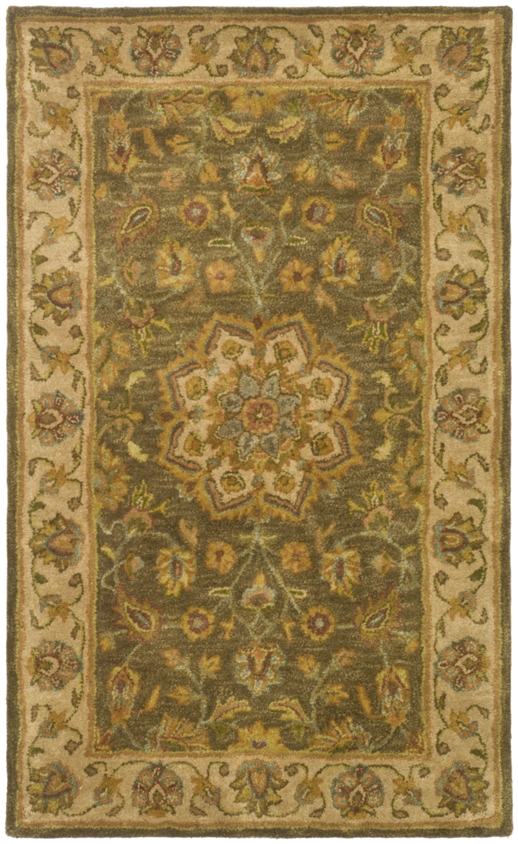 Cranmore Green/Taupe Area Rug Rug Size: Rectangle 4' x 6'