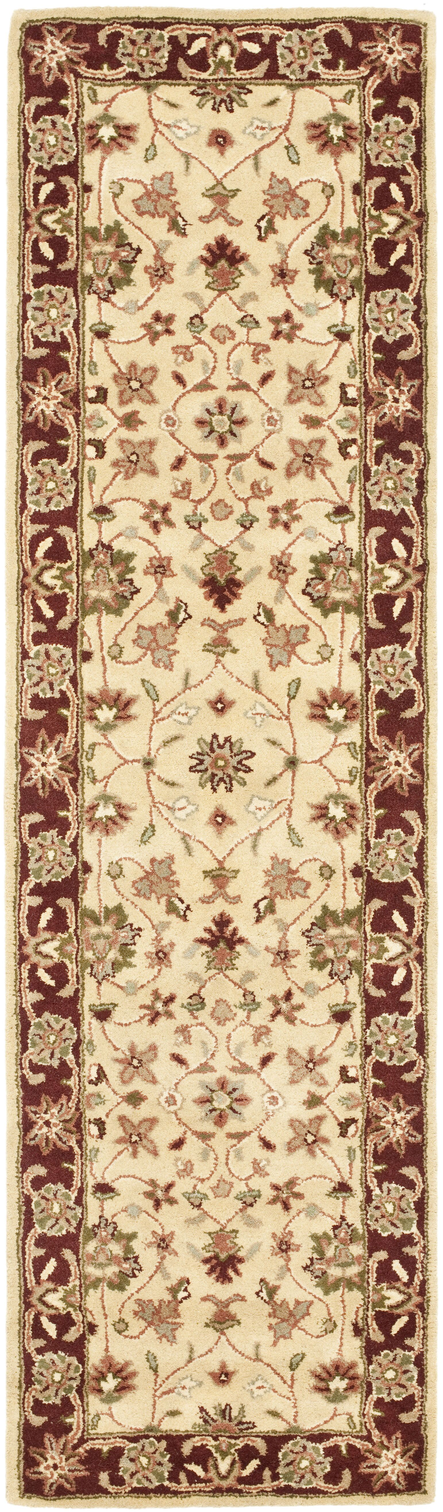 Cranmore Ivory/Red Area Rug Rug Size: Runner 2'3