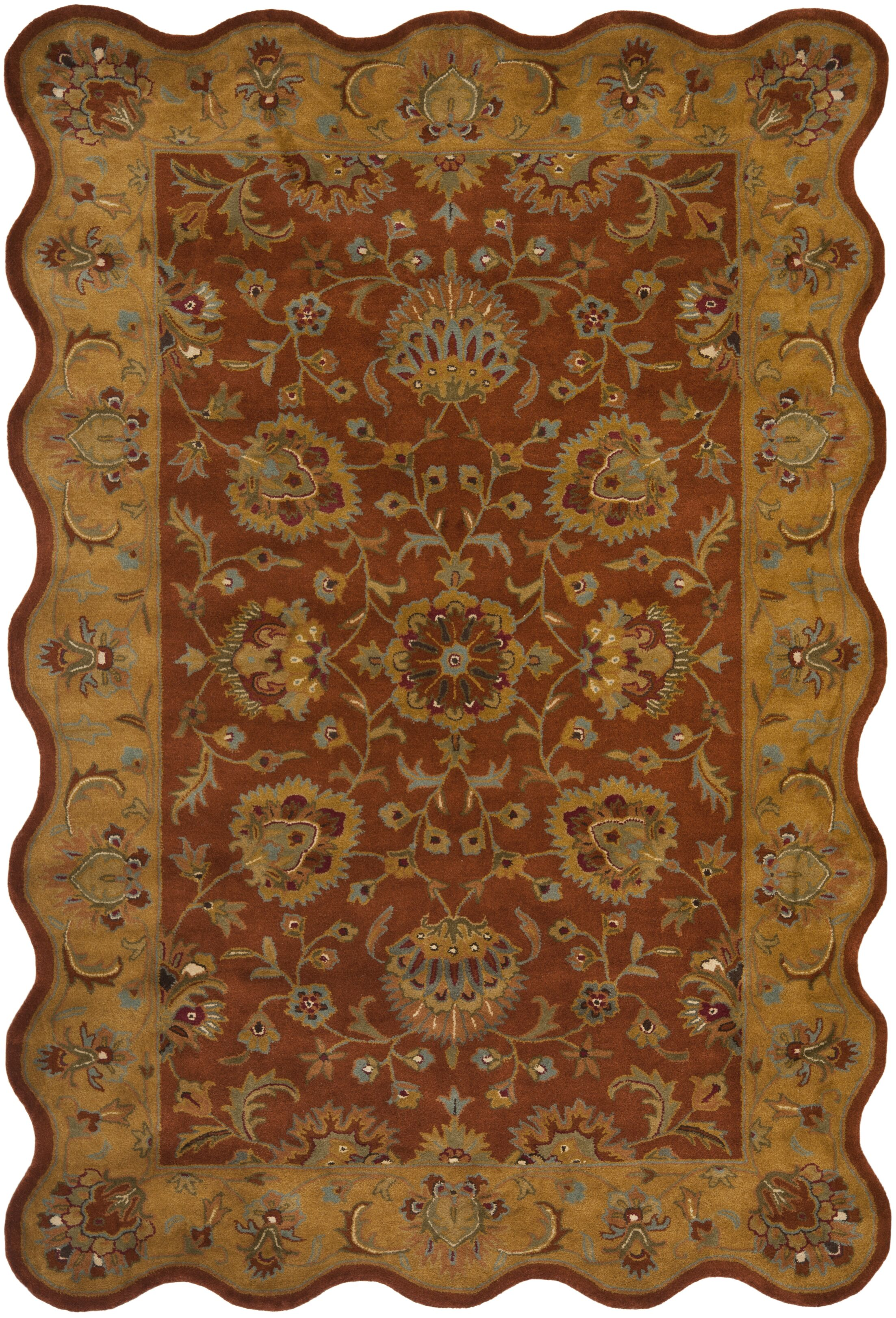 Cranmore Red/Natural Rug Rug Size: Novelty 4' x 6'