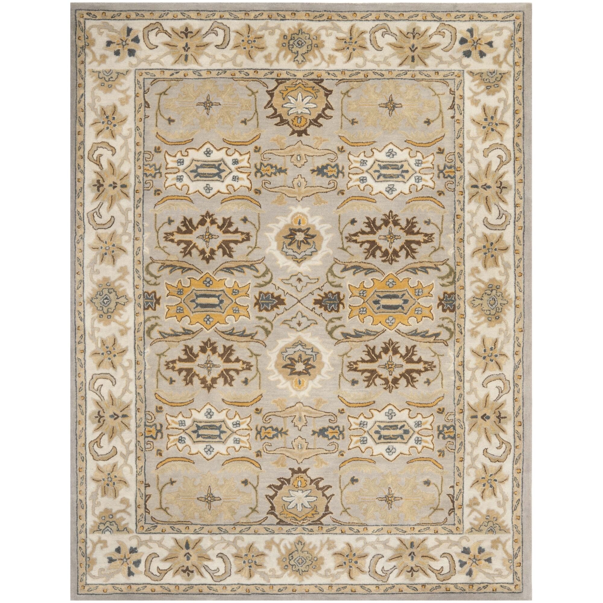 Cranmore Light Grey/Grey Area Rug Rug Size: Rectangle 9'6