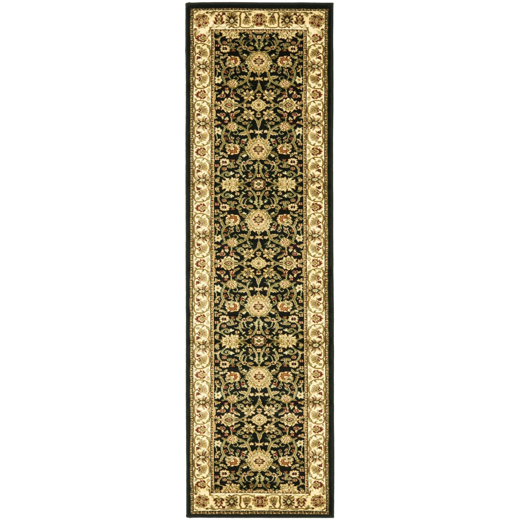 Ottis Black/Cream Area Rug Rug Size: Runner 2'3