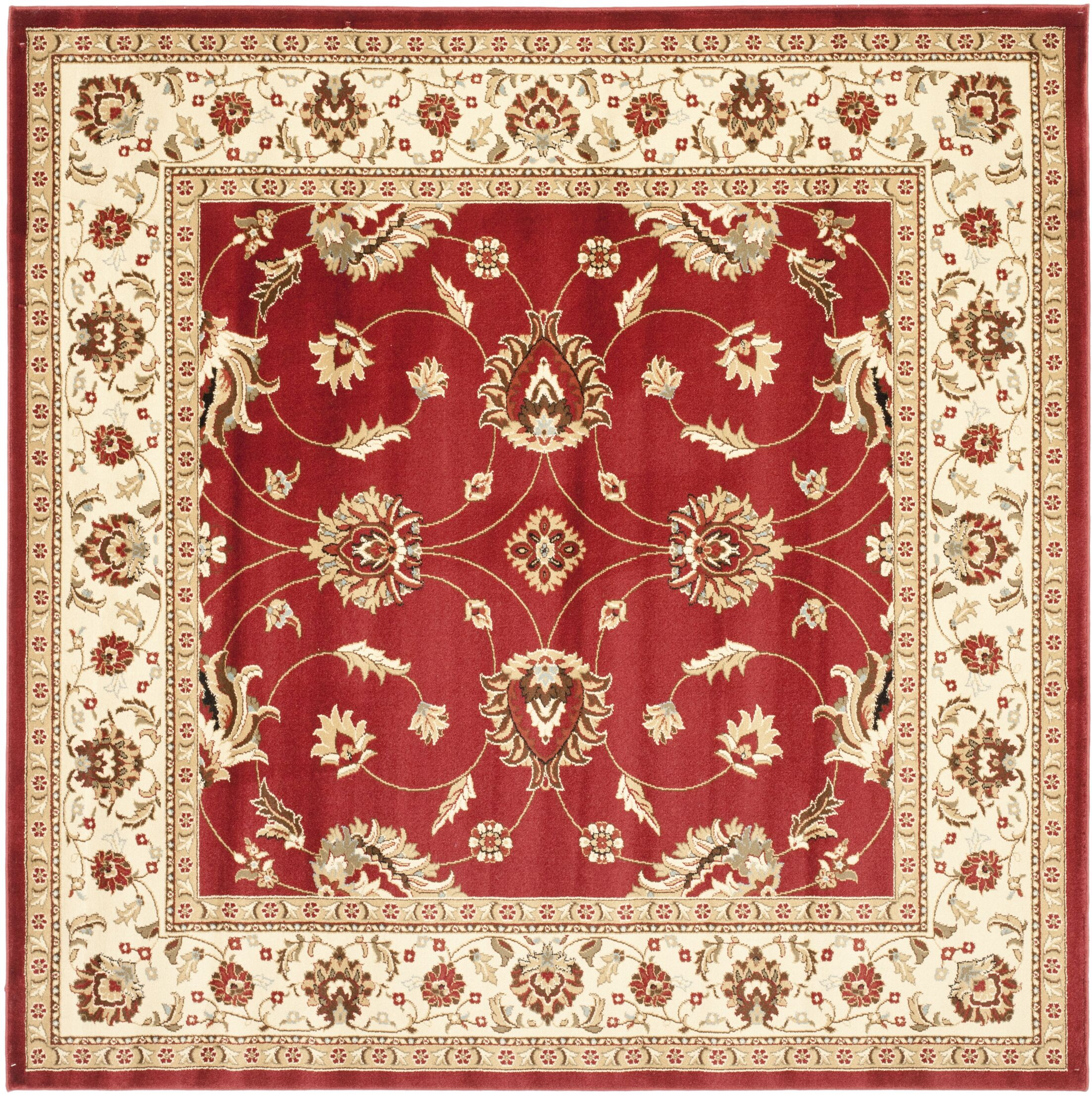 Ottis Red/Ivory Persian Area Rug Rug Size: Square 6'7