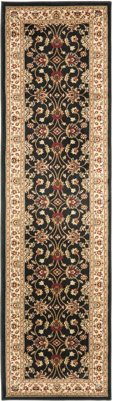 Ottis Black/Ivory Persian Area Rug Rug Size: Runner 2'3
