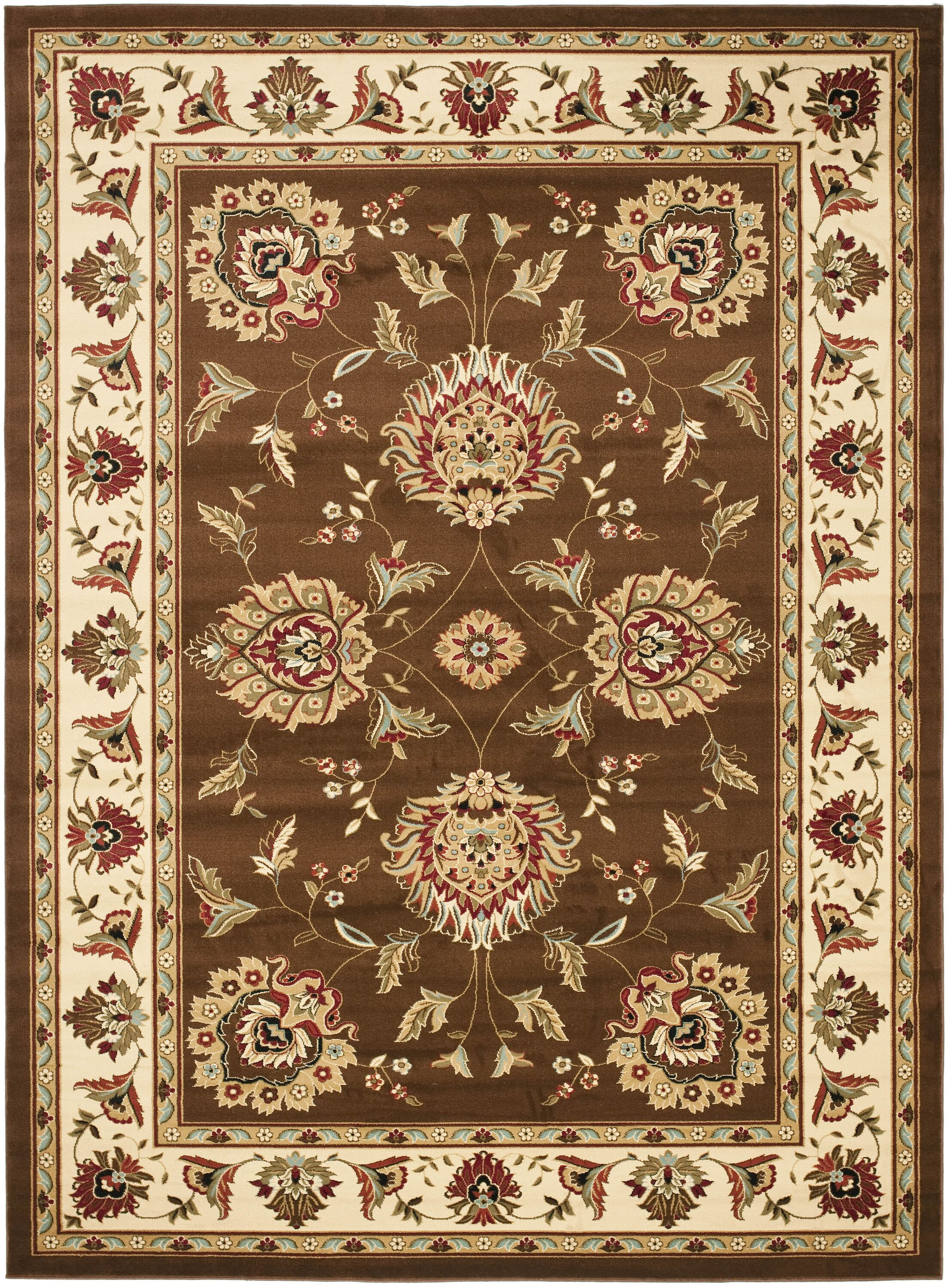 Ottis Brown/Ivory Area Rug Rug Size: Rectangle 4' x 6'