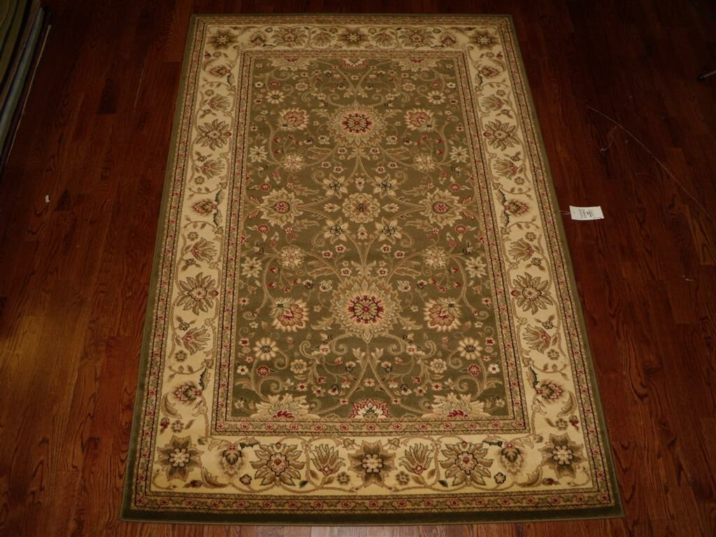 Ottis Sage/Ivory Persian Area Rug Rug Size: Rectangle 6' x 9'