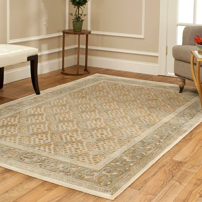 Patrick Dark Creme Area Rug Rug Size: Rectangle 5'3