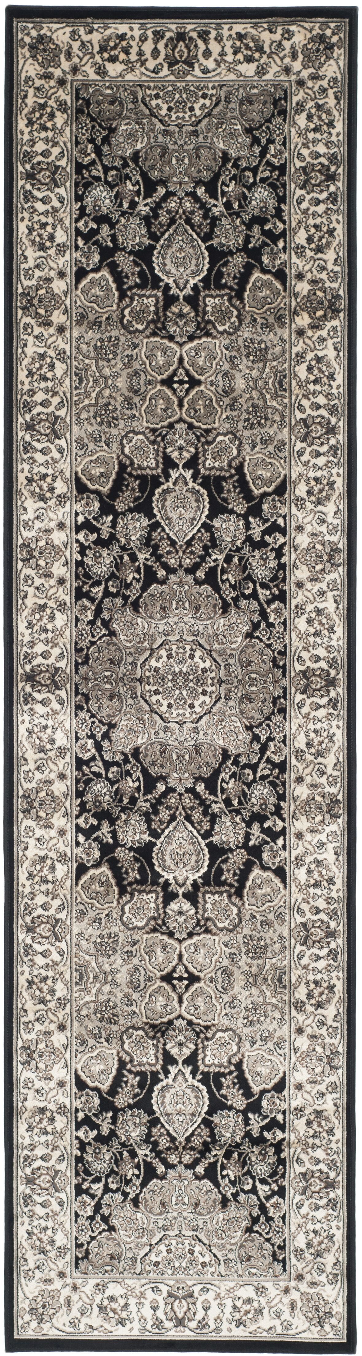 Petronella Black/Ivory Area Rug Rug Size: Runner 2'3