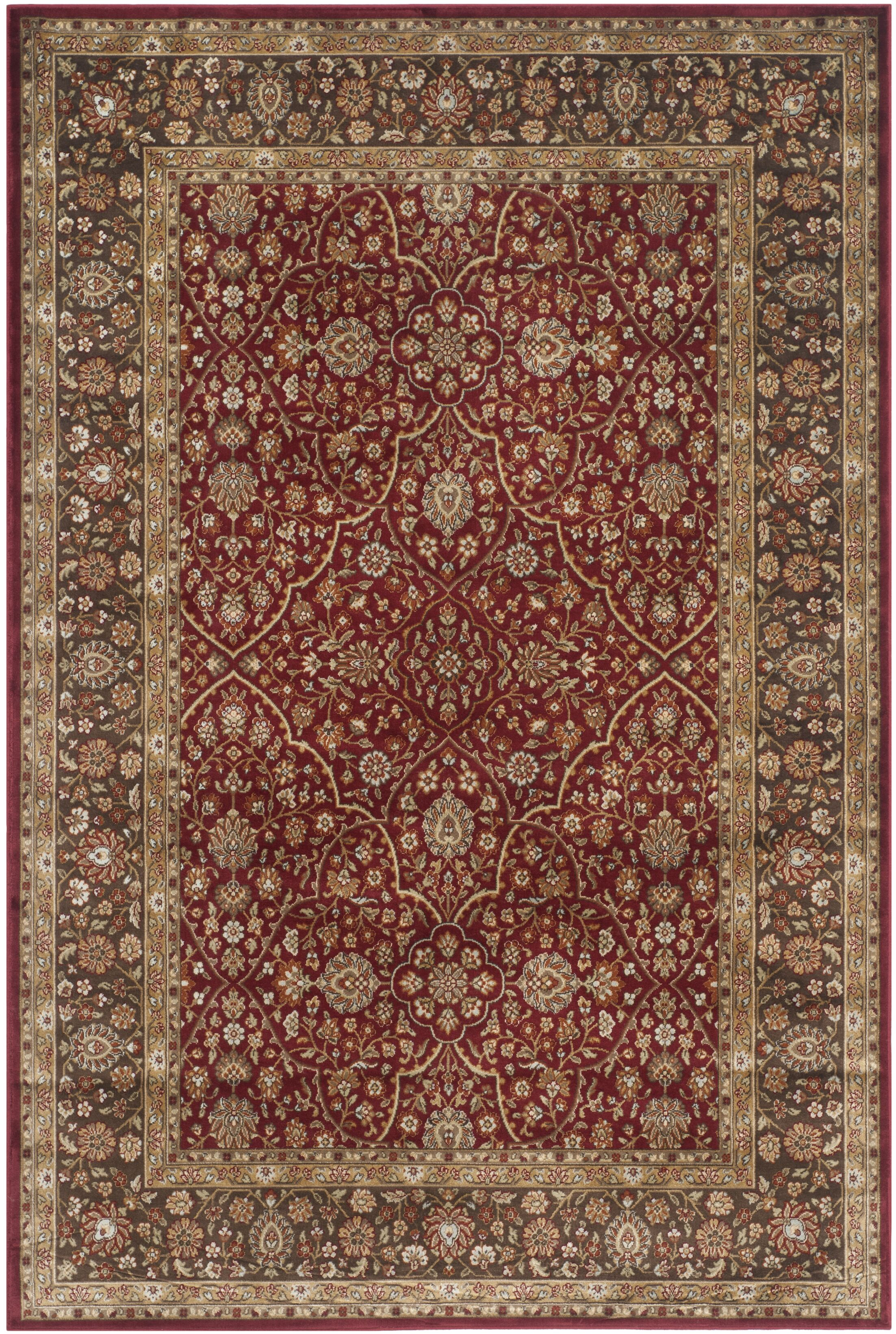 Petronella Red/Brown Area Rug Rug Size: Rectangle 5'3