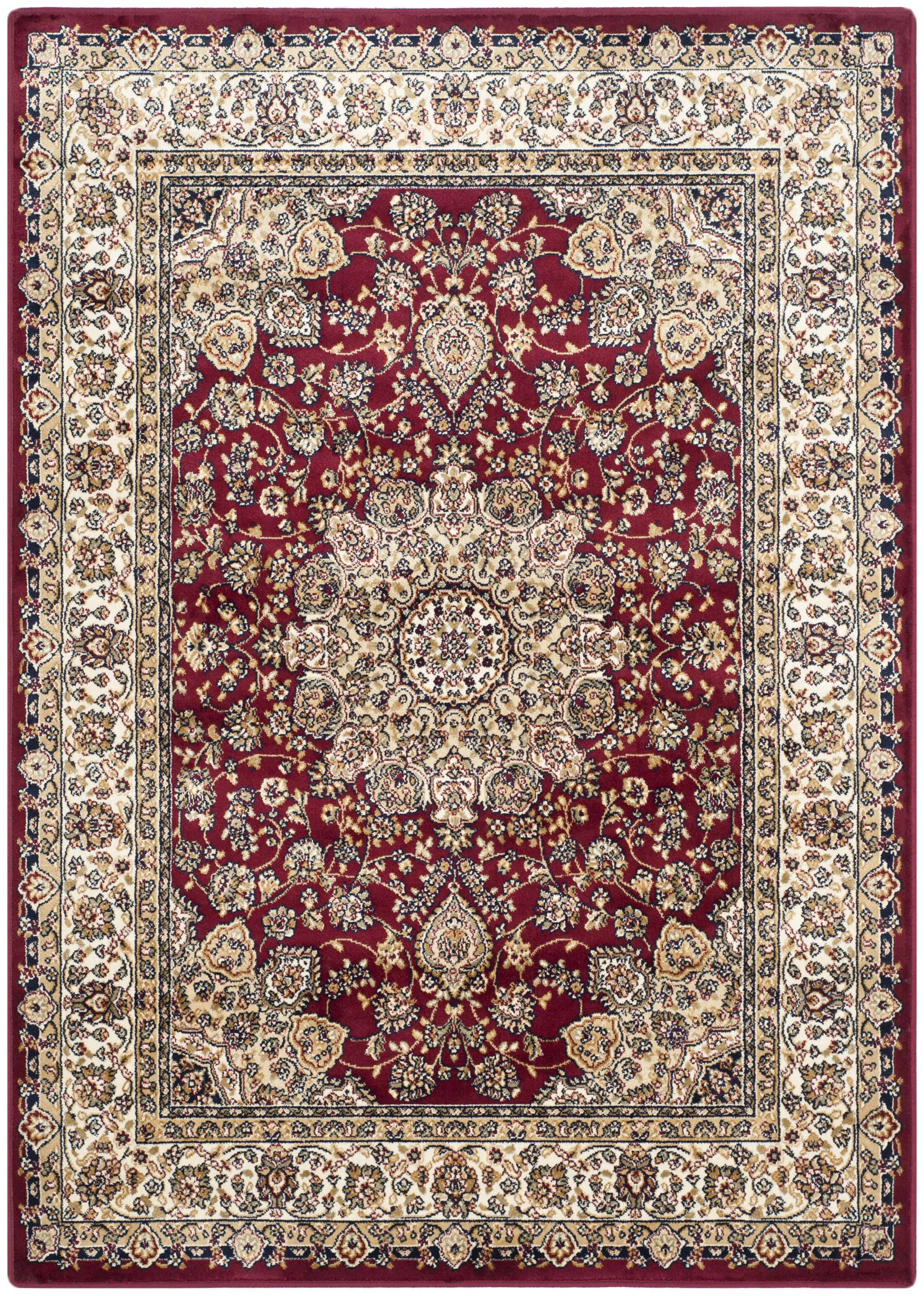 Petronella Red/Ivory Area Rug Rug Size: Rectangle 6'7
