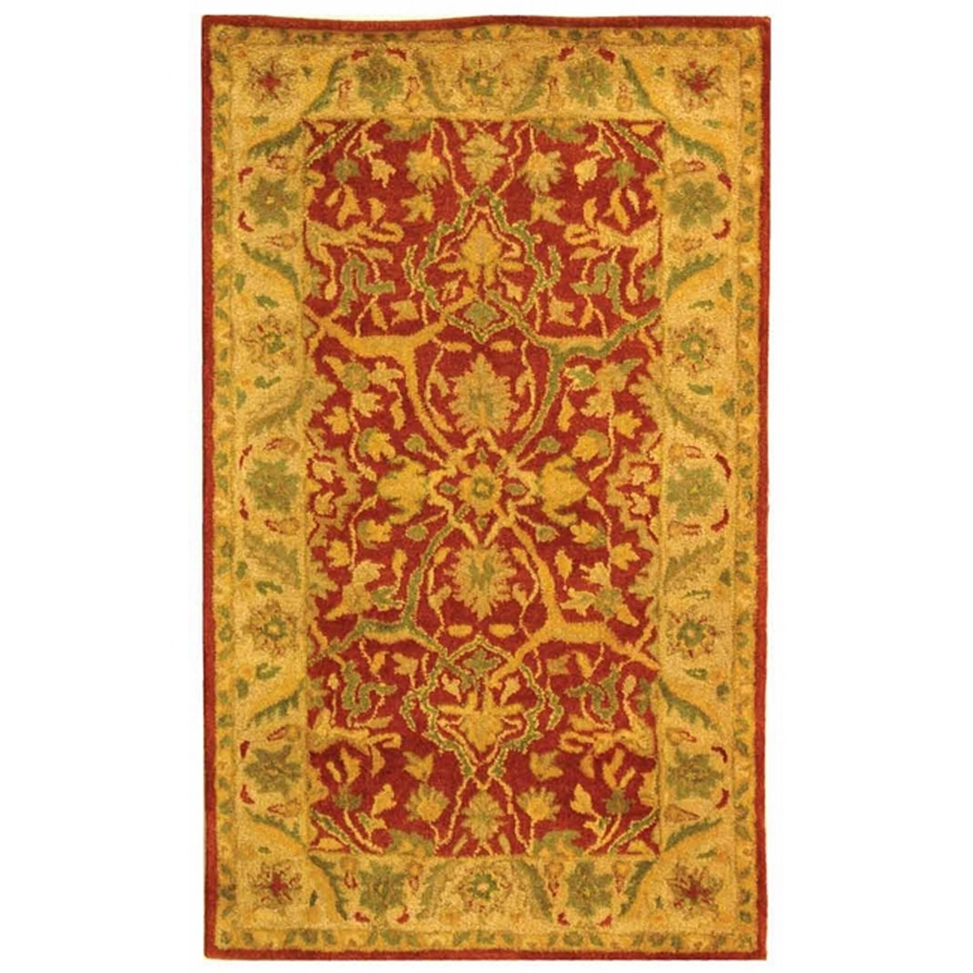 Traver Rust Area Rug Rug Size: Rectangle 5' x 8'
