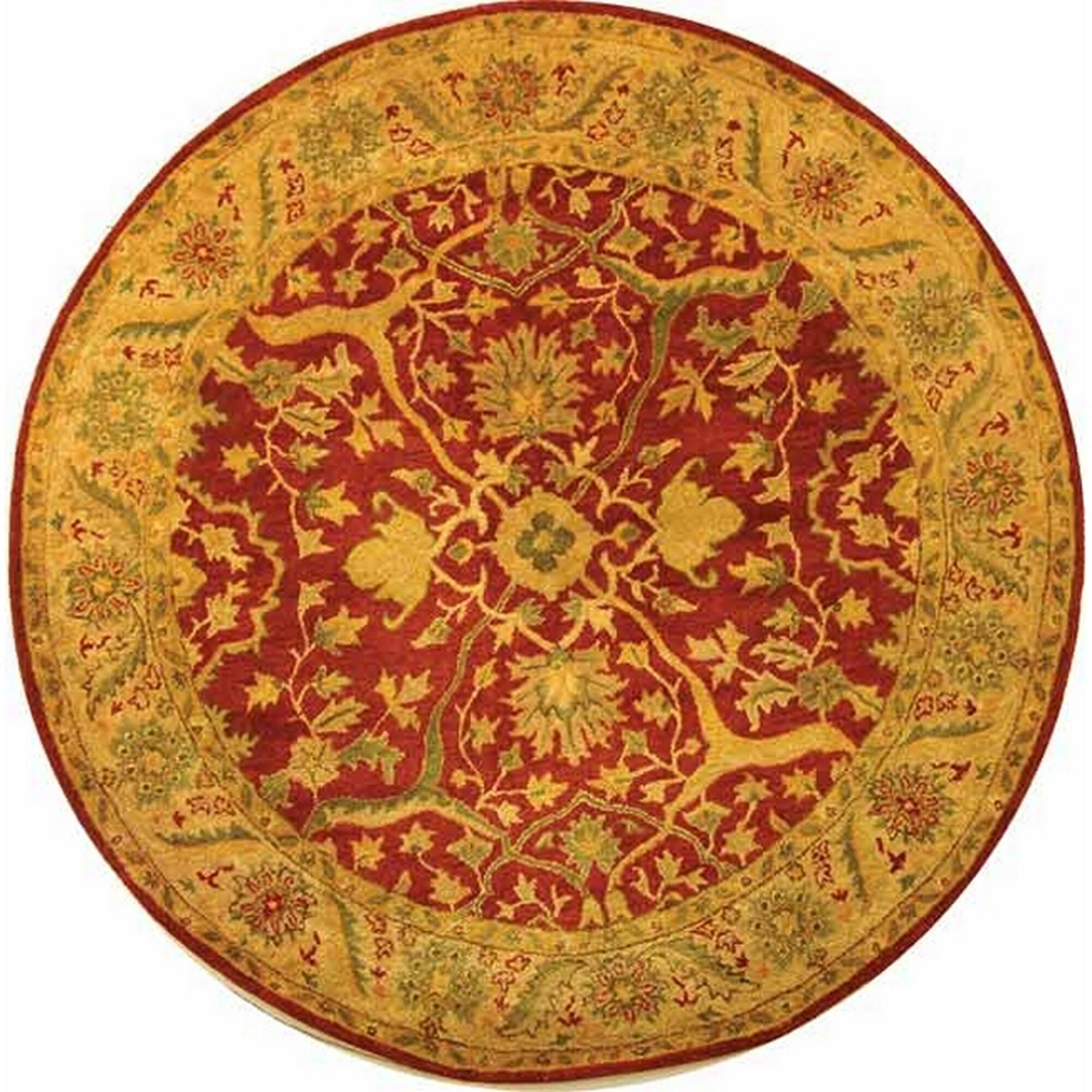 Traver Rust Area Rug Rug Size: Round 3'6