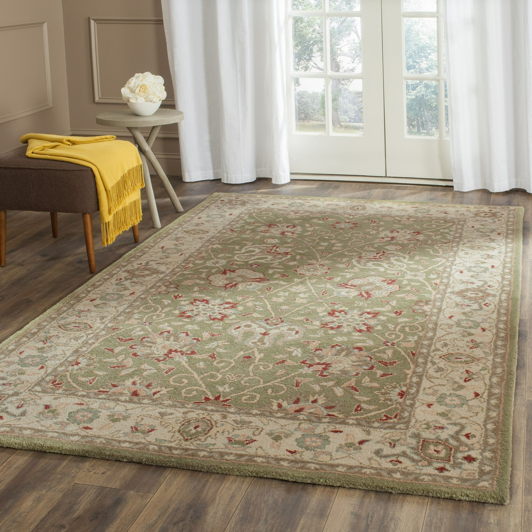 Dunbar Hand-Woven Wool Sage Area Rug Rug Size: Rectangle 2'3