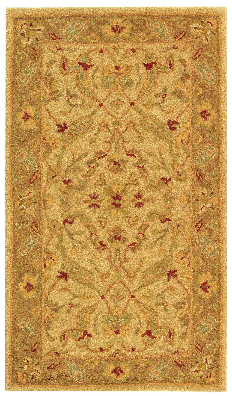 Dunbar Hand-Woven Wool Ivory/Brown Area Rug Rug Size: Rectangle 3' x 5'
