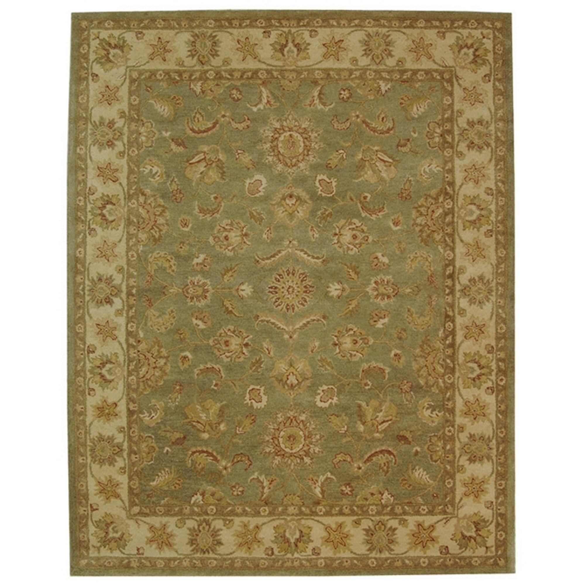 Dunbar Hand-Woven Wool Moss Green/Gold Area Rug Rug Size: Rectangle 8'3