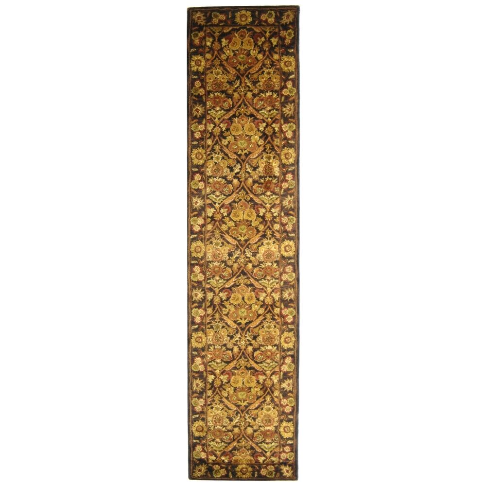 Dunbar Garden Panel Dark Plum/Gold Area Rug Rug Size: Runner 2'3