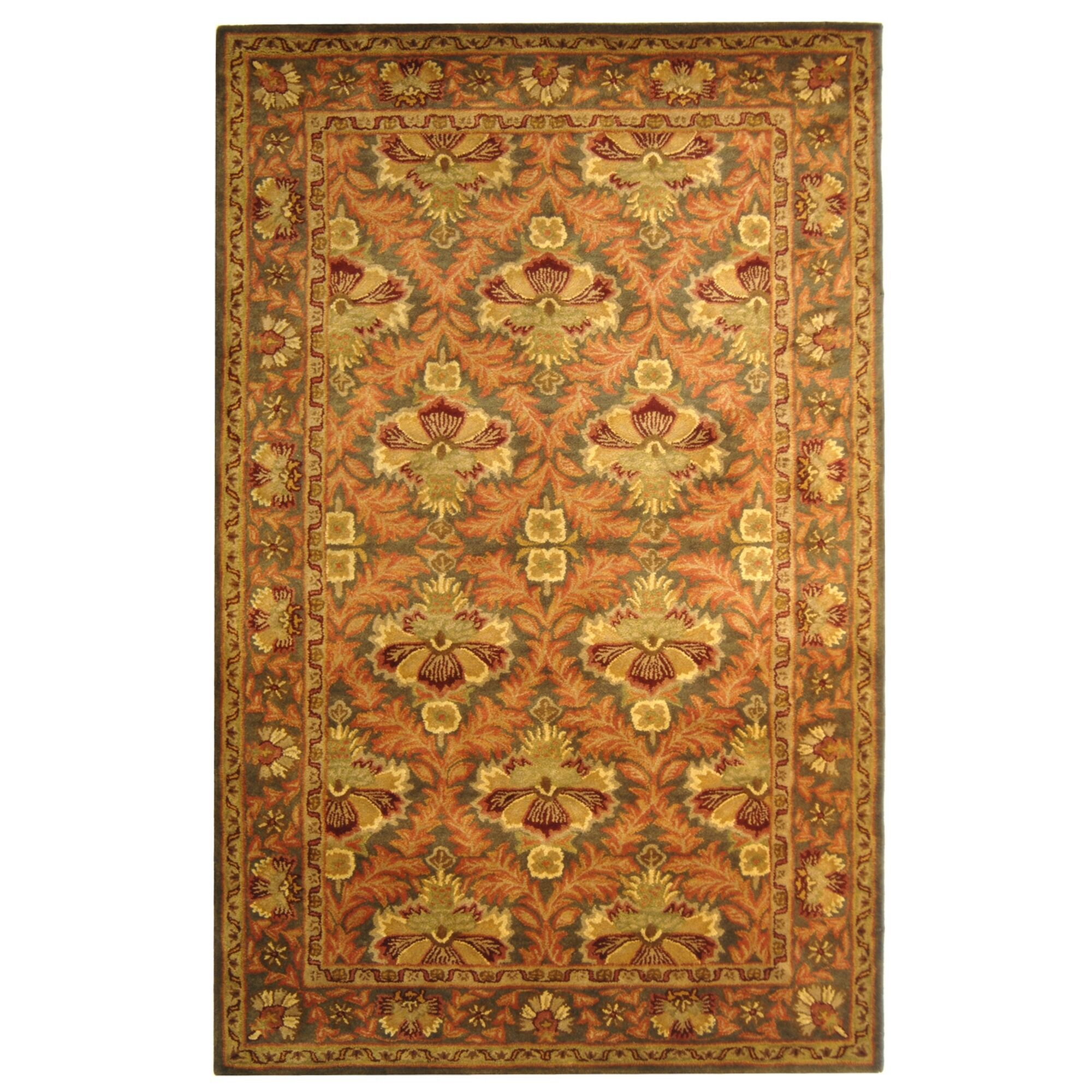 Dunbar Hand-Tufted/Hand-Hooked Wool Sage/Gold Area Rug Rug Size: Rectangle 6' x 9'