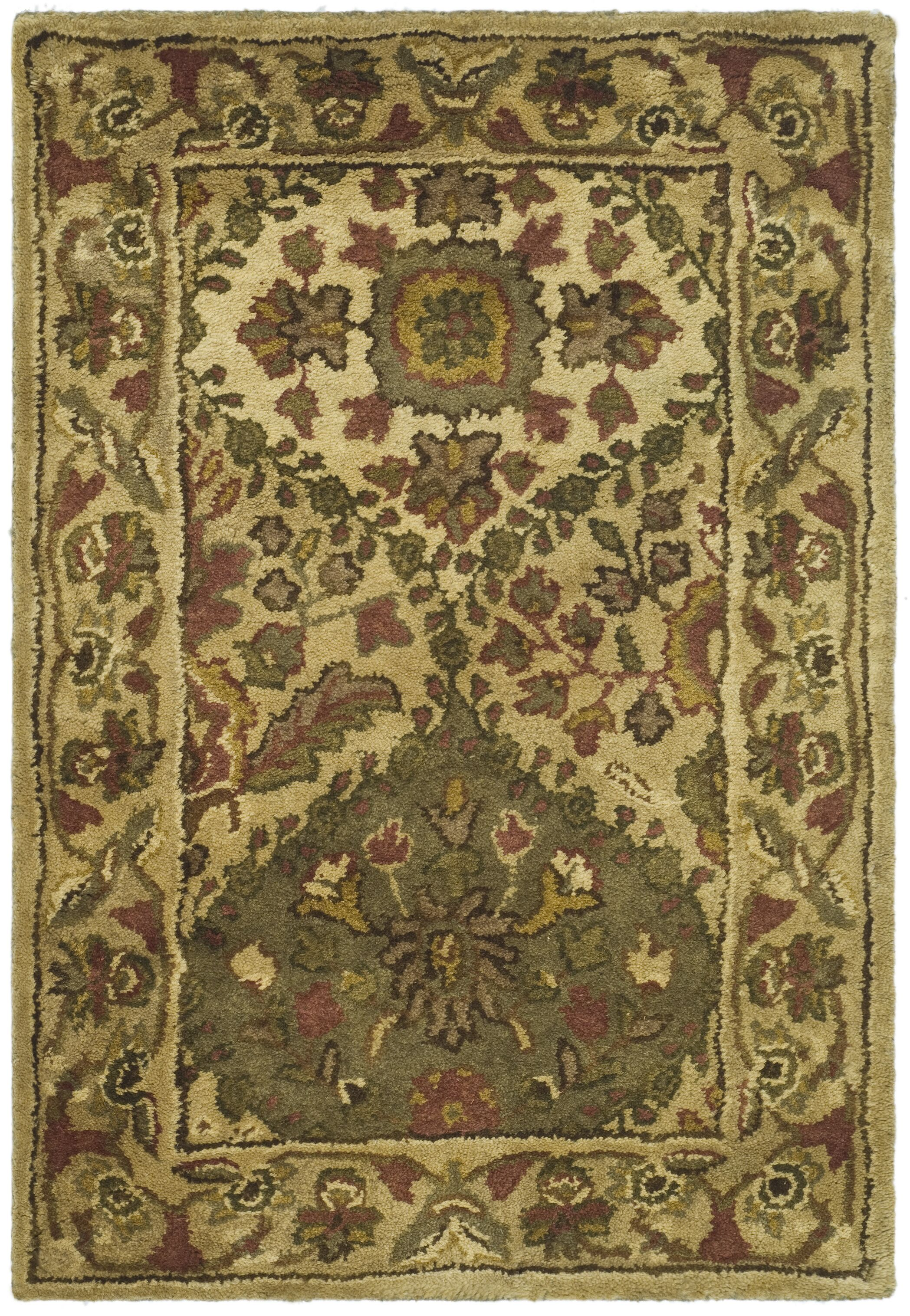Dunbar Beige/Olive Area Rug Rug Size: Rectangle 7'6