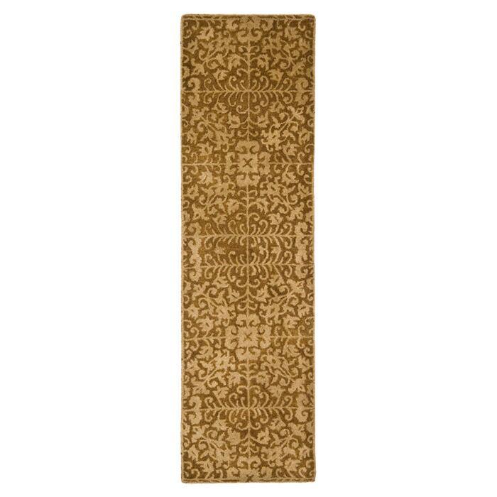 Dunbar Hand-Woven Wool Gold/Beige Area Rug Rug Size: Runner 2'3