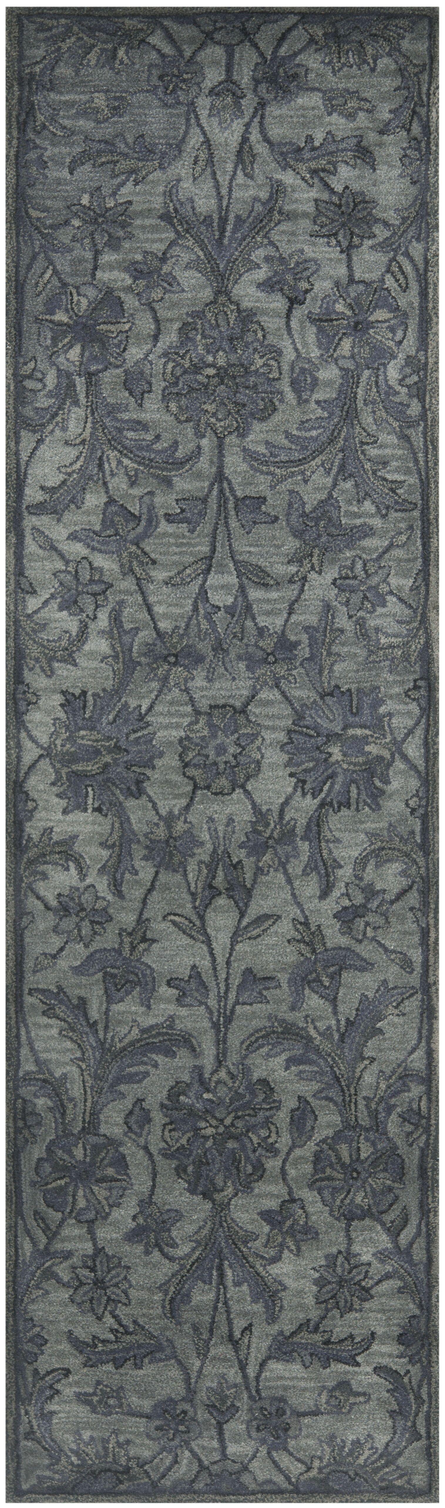 Dunbar Hand-Woven Wool Grey Area Rug Rug Size: Runner 2'3