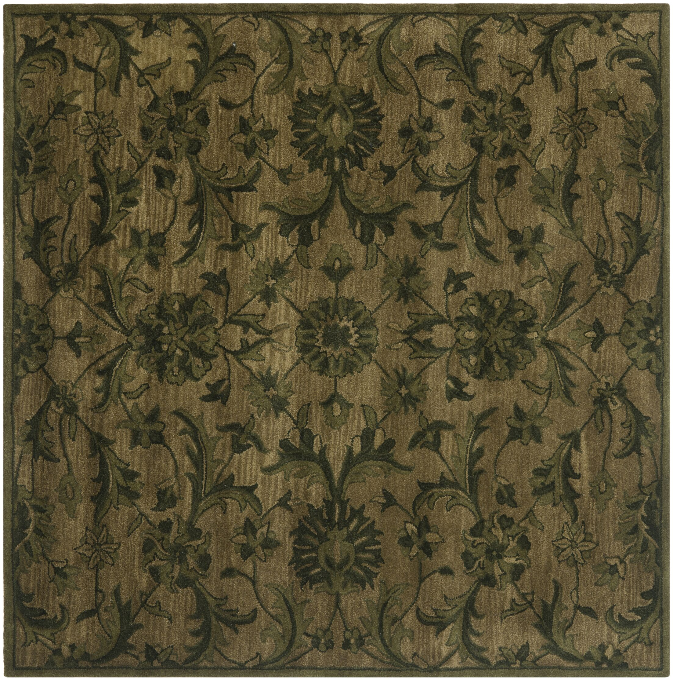 Dunbar Hand-Woven Wool Area Rug Rug Size: Square 6'