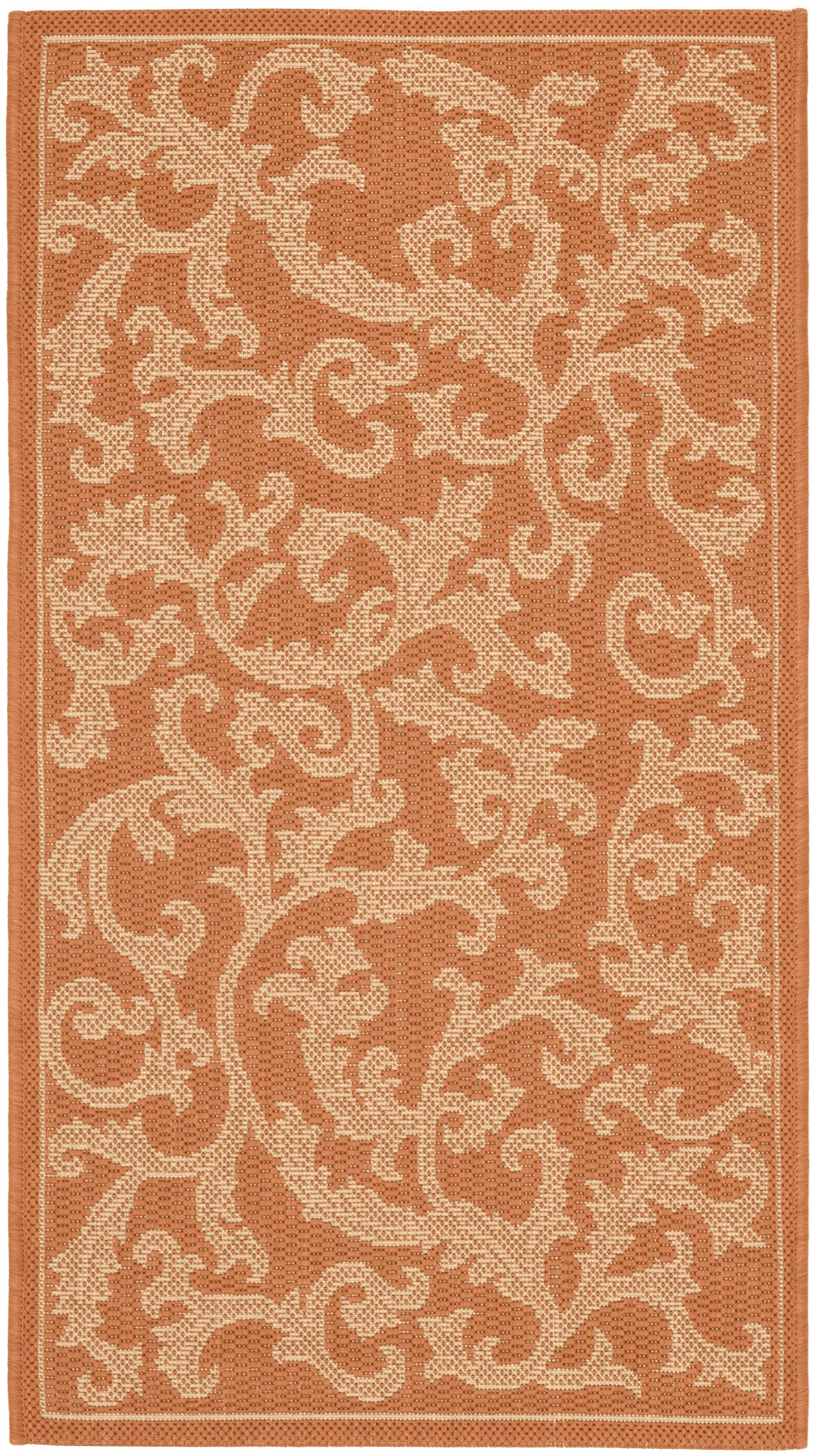Octavius All Over Ivy Terracota Indoor/Outdoor Area Rug Rug Size: Rectangle 8' x 11'