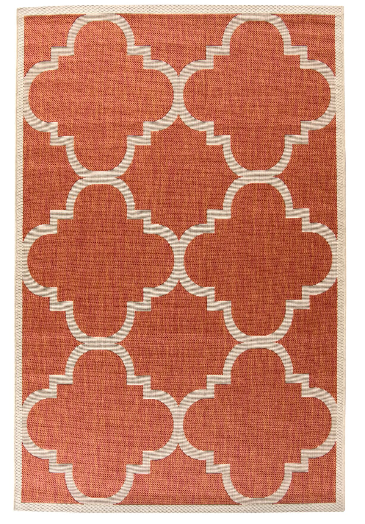 Octavius Natural/Terracotta Outdoor Area Rug Rug Size: Rectangle 6'7