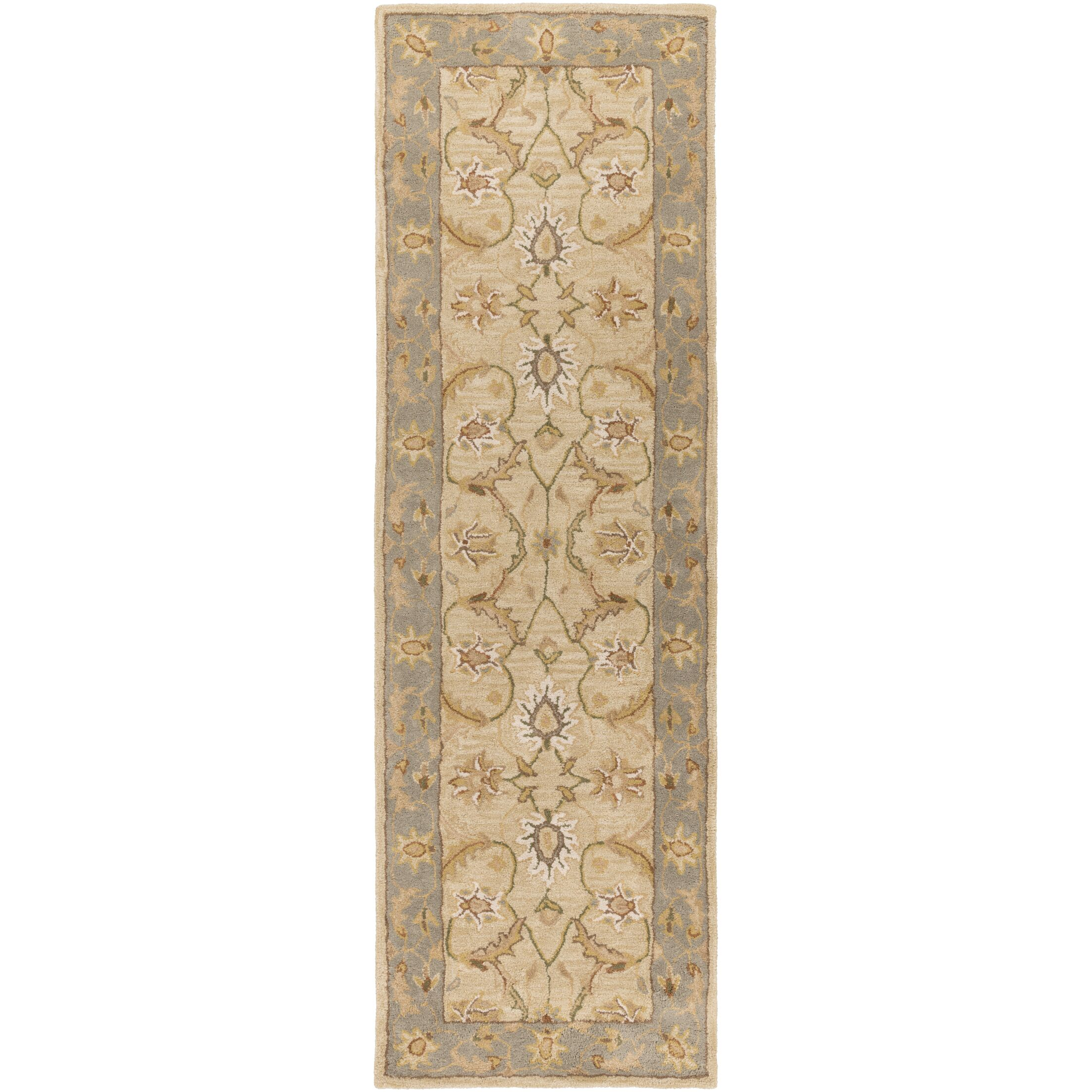Florence Hand-Woven Putty Area Rug Rug Size: Runner 2'6