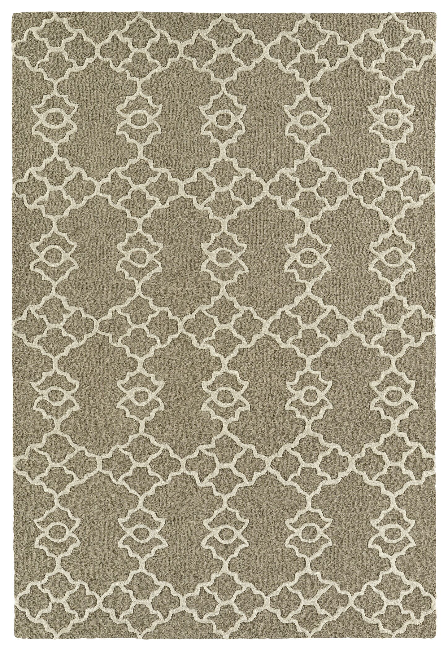 Bryant Handmade Light Brown Area Rug Rug Size: Rectangle 5' x 7'