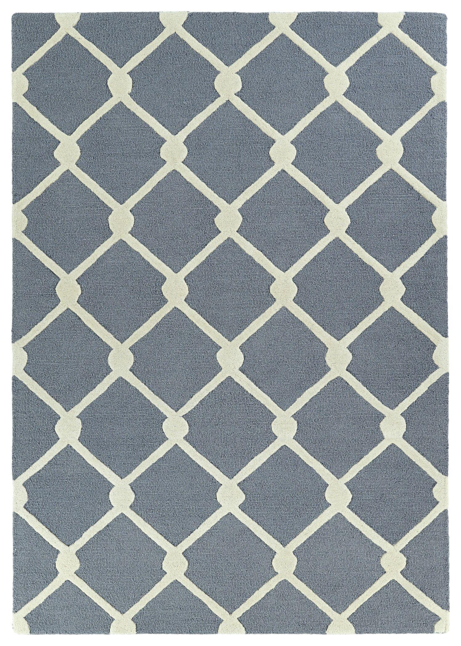 Cogar Handmade Gray Area Rug Rug Size: Rectangle 8' x 10'