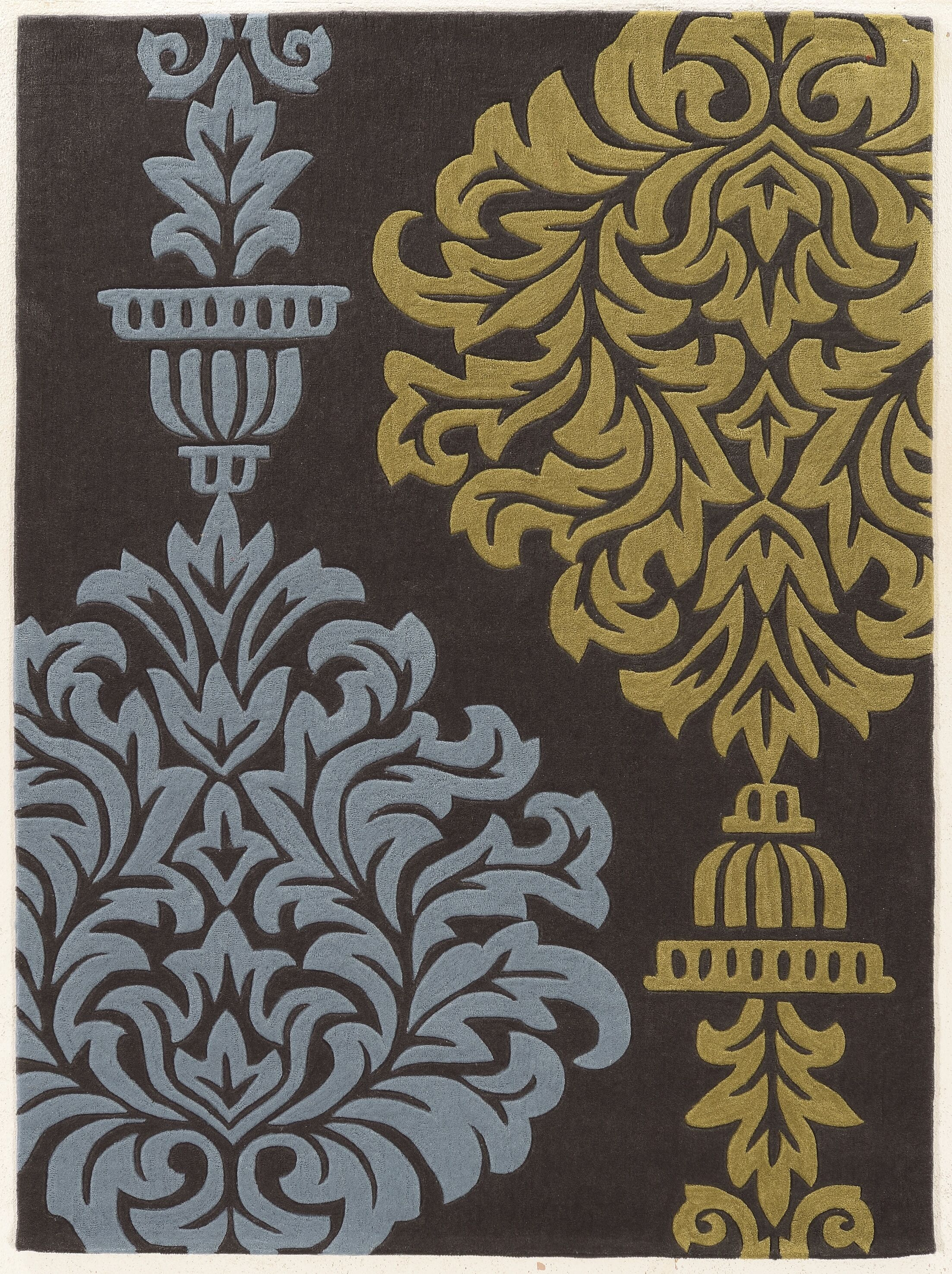 Coggins Hand-Tufted Gray Area Rug Rug Size: Rectangle 8' x 10'