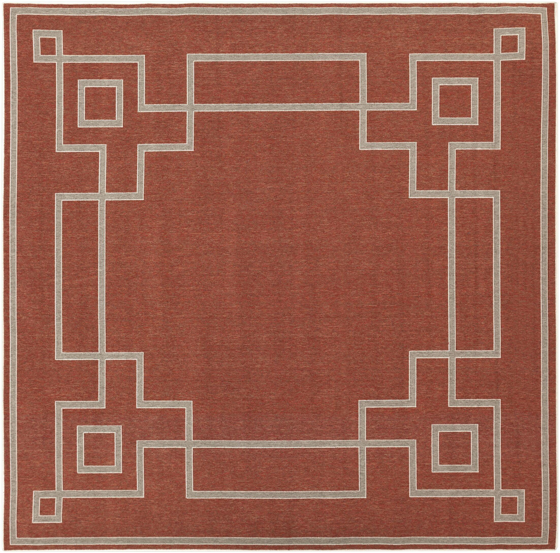Minnie Rust/Beige Indoor/Outdoor Area Rug Rug Size: Square 8'9