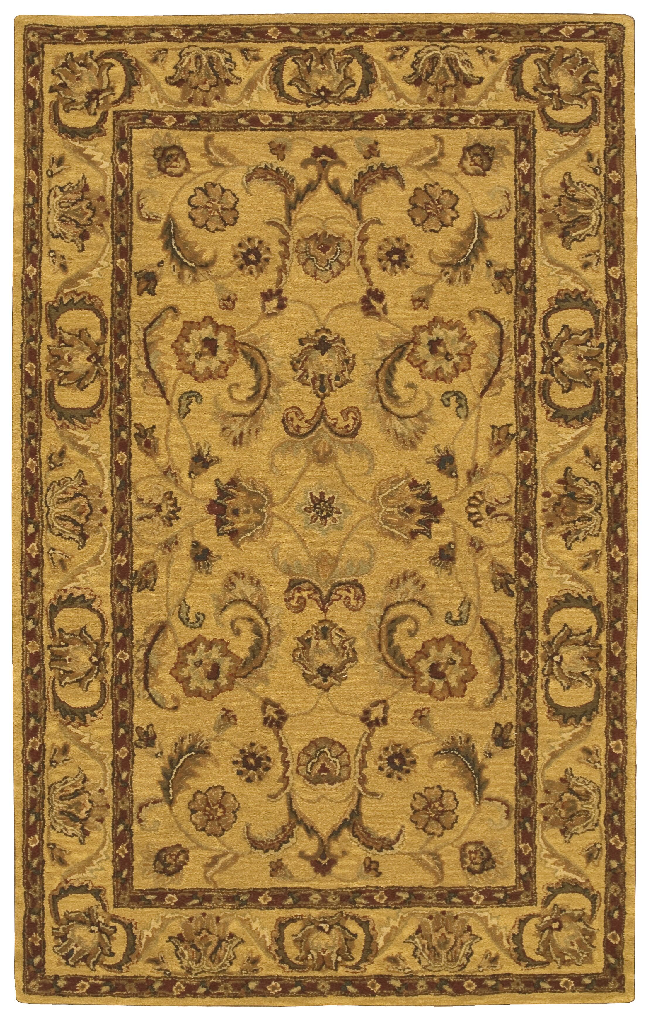 Cortese Gold/Brown Area Rug Rug Size: Rectangle 3'6