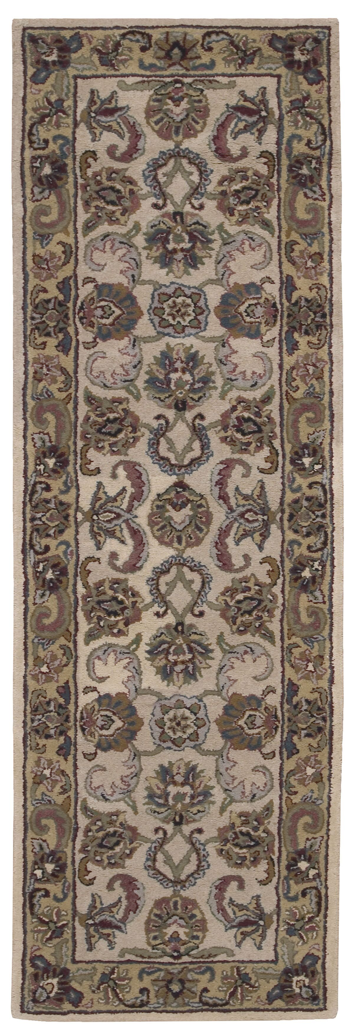 Cortese Ivory/Gold Area Rug Rug Size: Runner 2'3