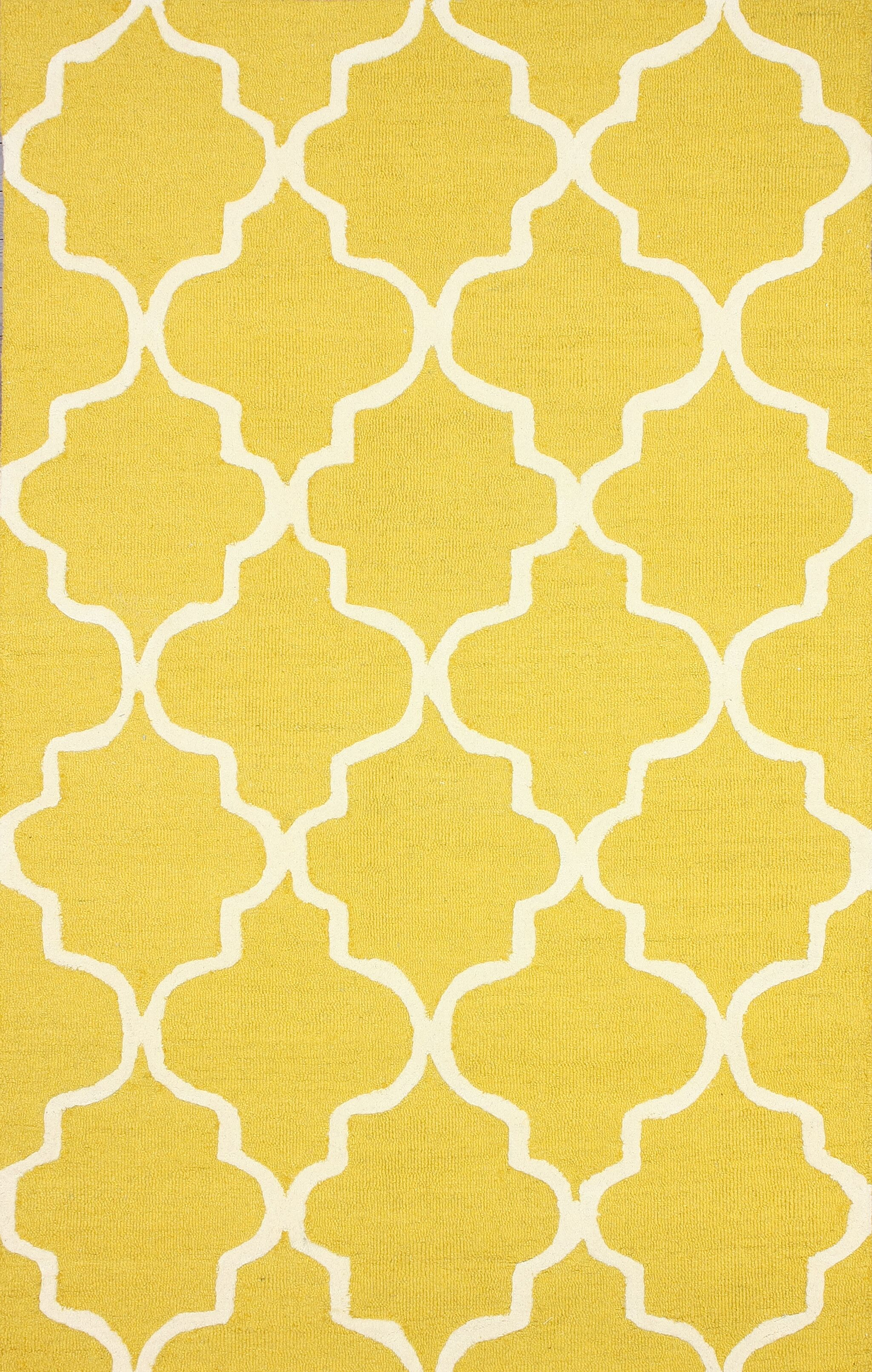Parkman Holly Hand-Woven Yellow Area Rug Rug Size: Rectangle 6' x 9'