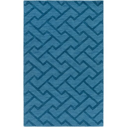 Villegas Hand-Loomed Teal Area Rug Rug Size: Rectangle 3'3