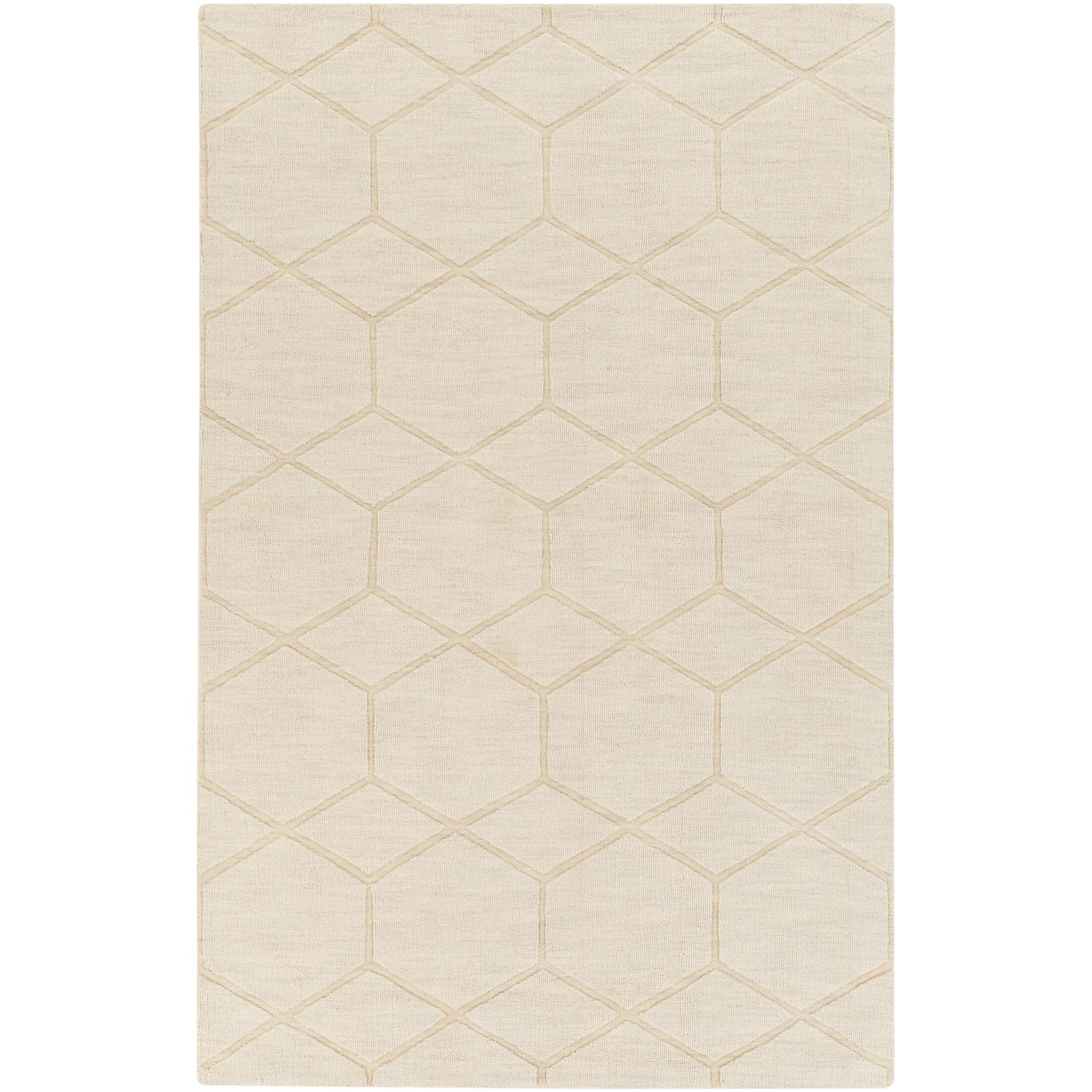 Peever Hand-Loomed Khaki Area Rug Rug Size: Rectangle 8' x 11'