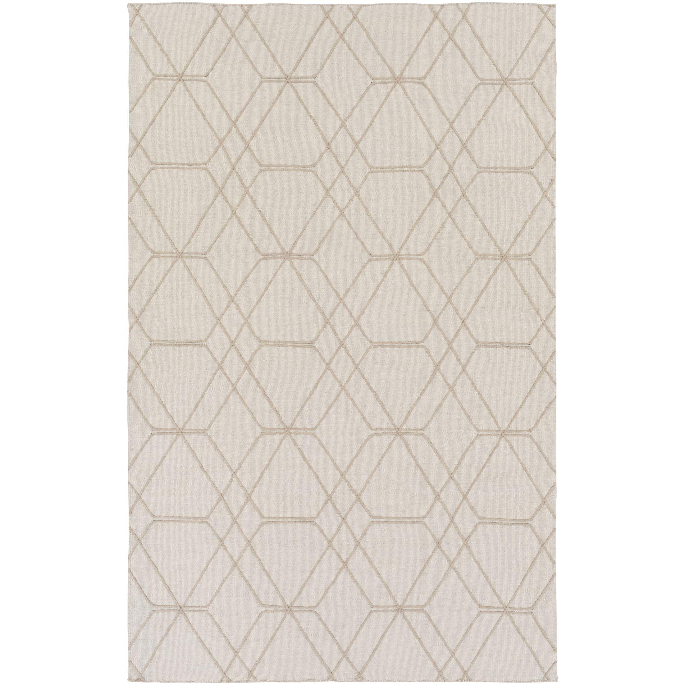 Robin Hand-Woven Cream Area Rug Rug Size: Rectangle 5' x 7'6