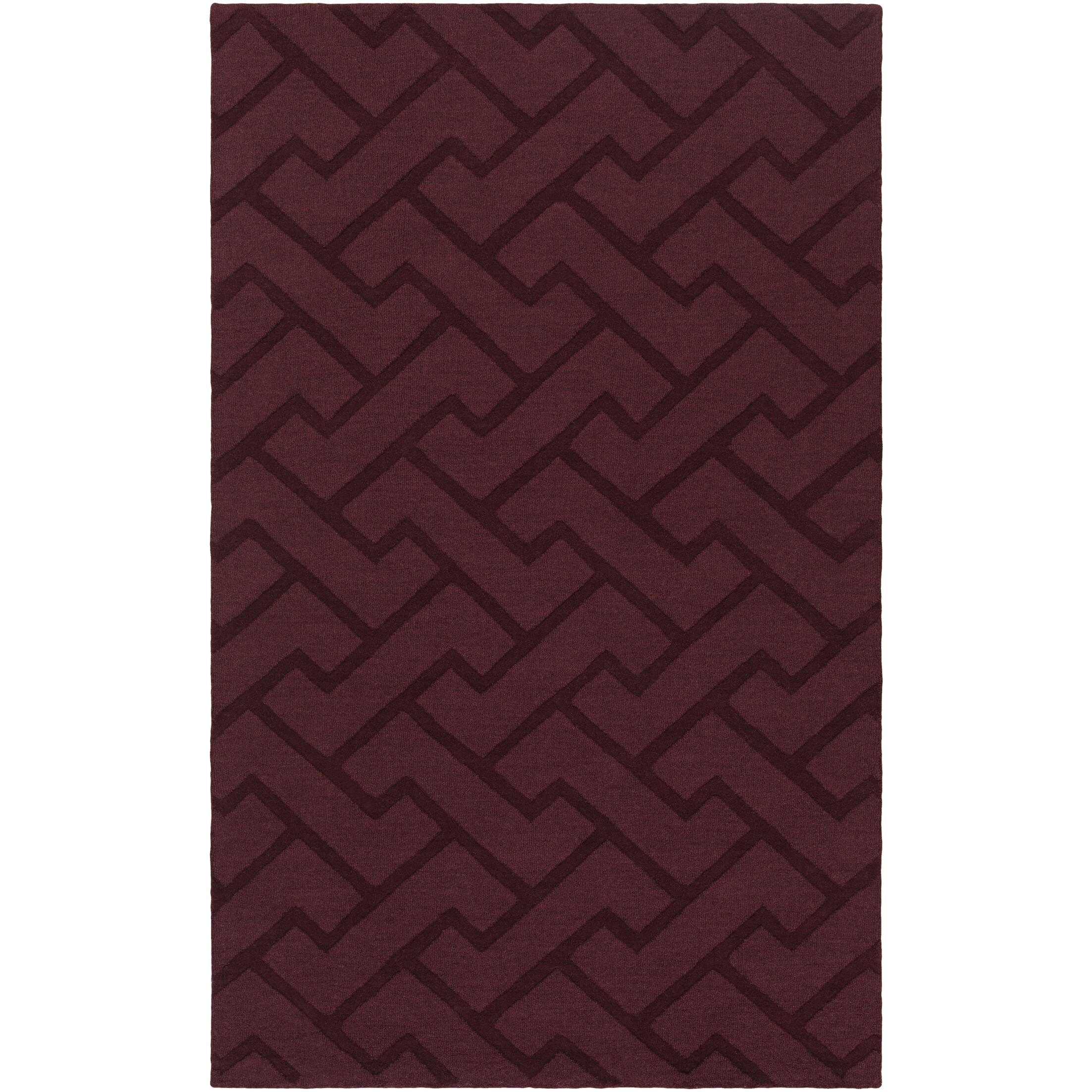 Villegas Hand-Loomed Eggplant Area Rug Rug Size: Rectangle 9' x 13'