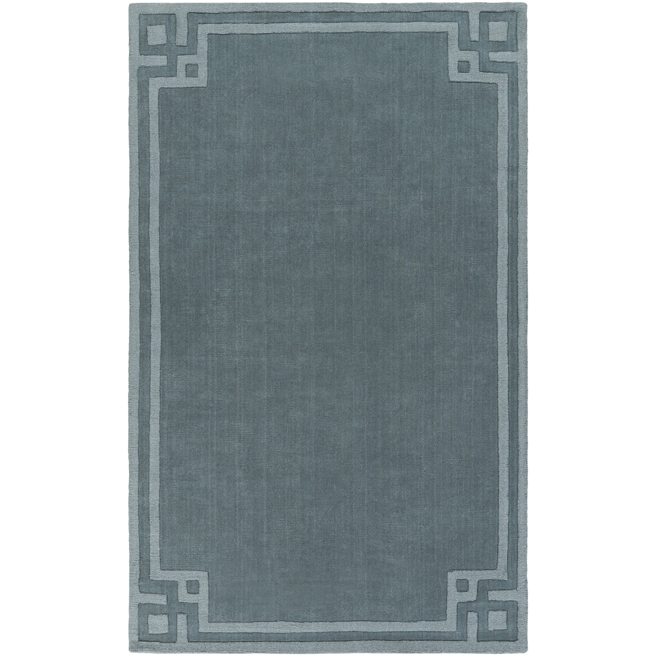 Peever Hand-Loomed Teal Area Rug Rug Size: Rectangle 9' x 13'