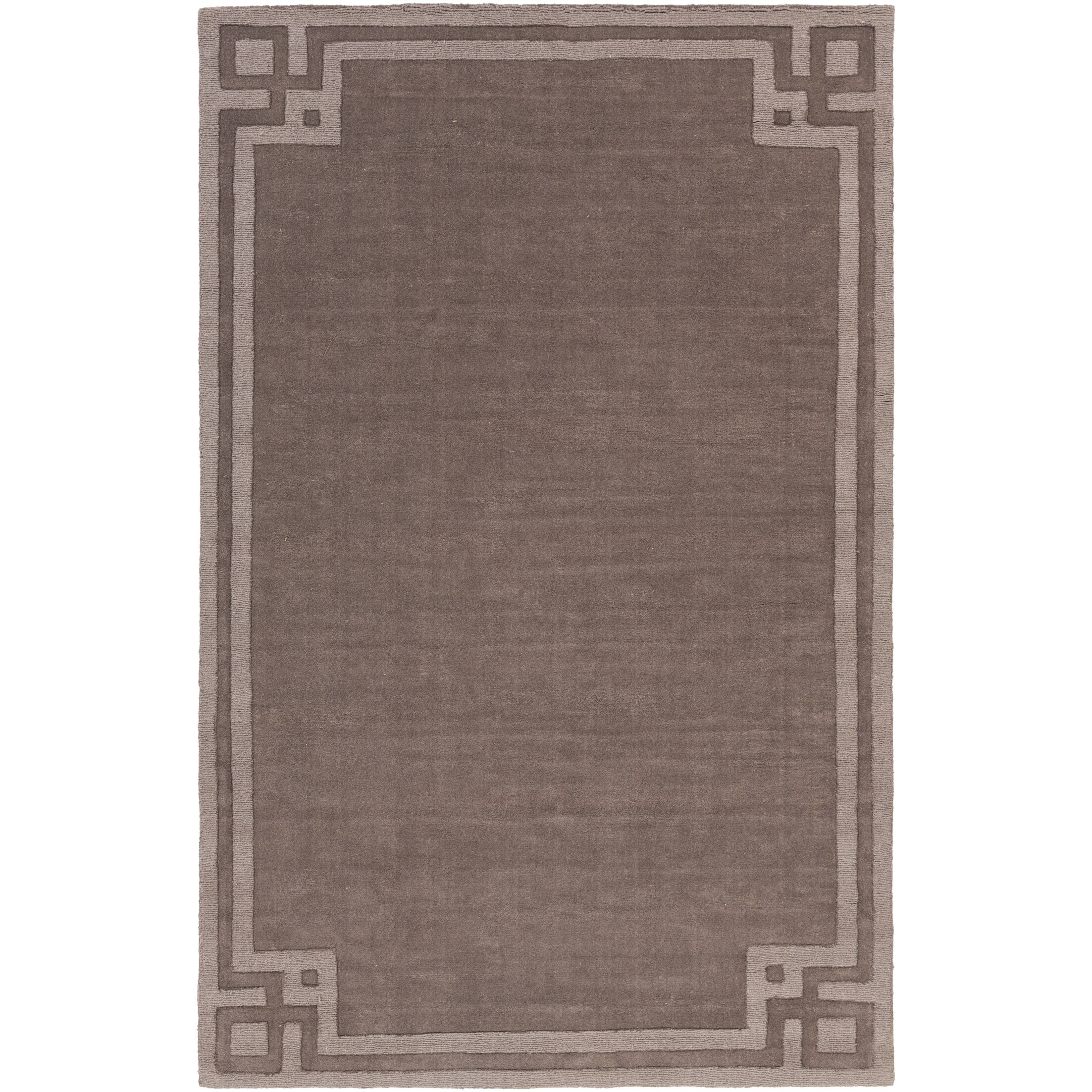 Peever Hand-Loomed Charcoal Area Rug Rug Size: Rectangle 5' x 8'